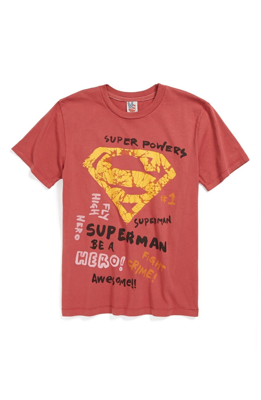Alternate Image 1 Selected - Junk Food 'Superman' T-Shirt (Little Boys & Big Boys)