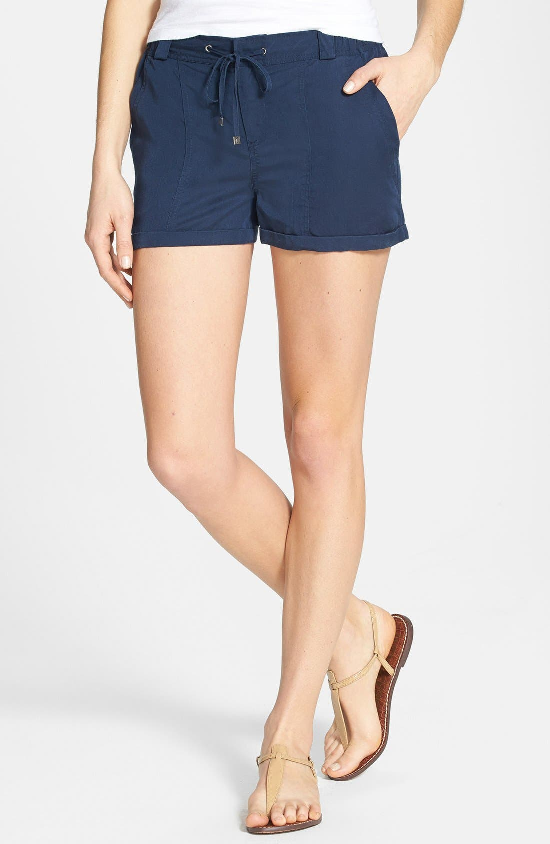 Main Image - Two by Vince Camuto Cuff Drawstring Shorts