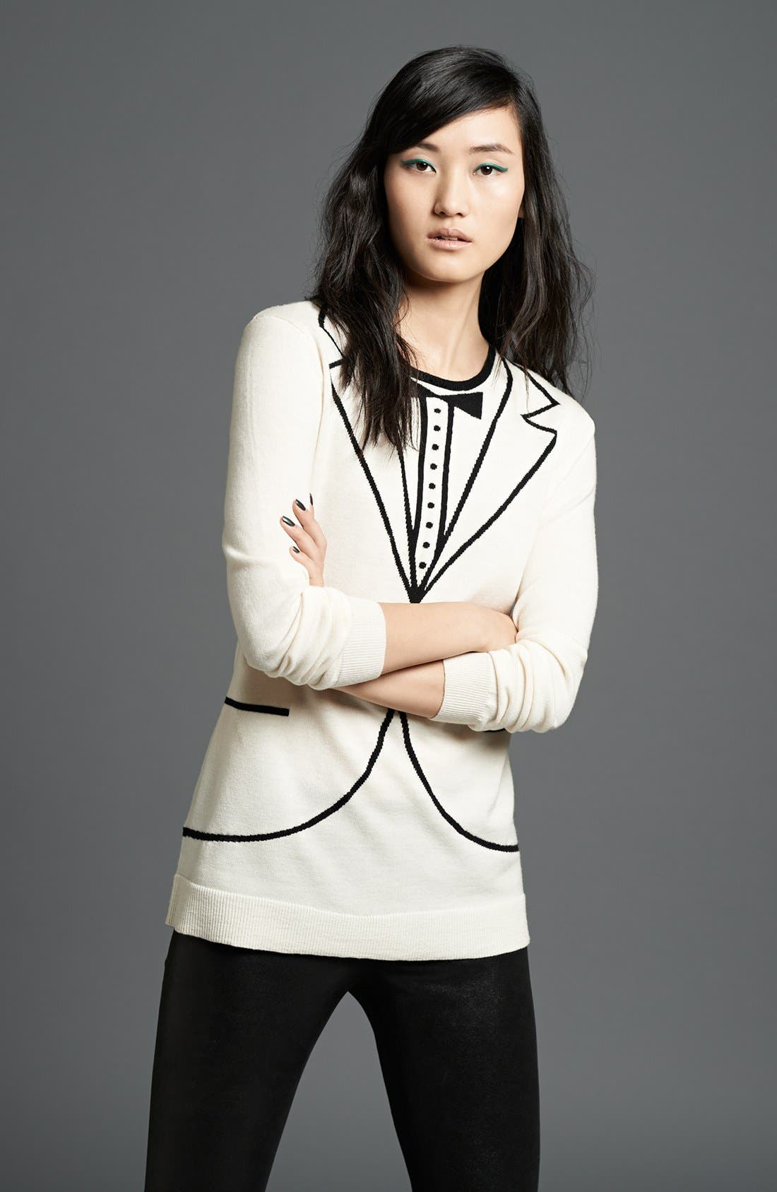 Alternate Image 1 Selected - L'AGENCE Sweater & Leggings