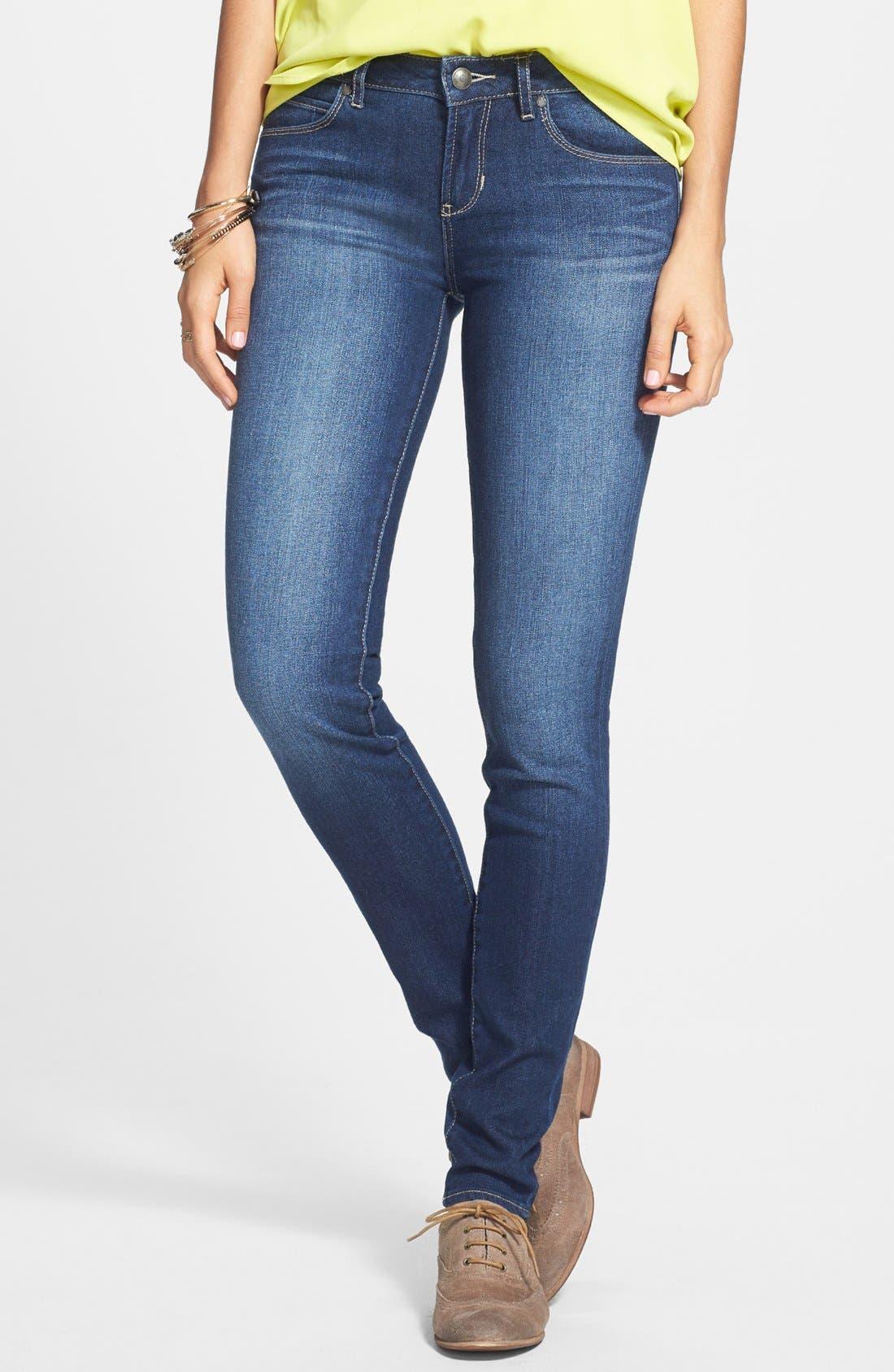 Main Image - Articles of Society 'Mya' Skinny Jeans (Dark) (Juniors)