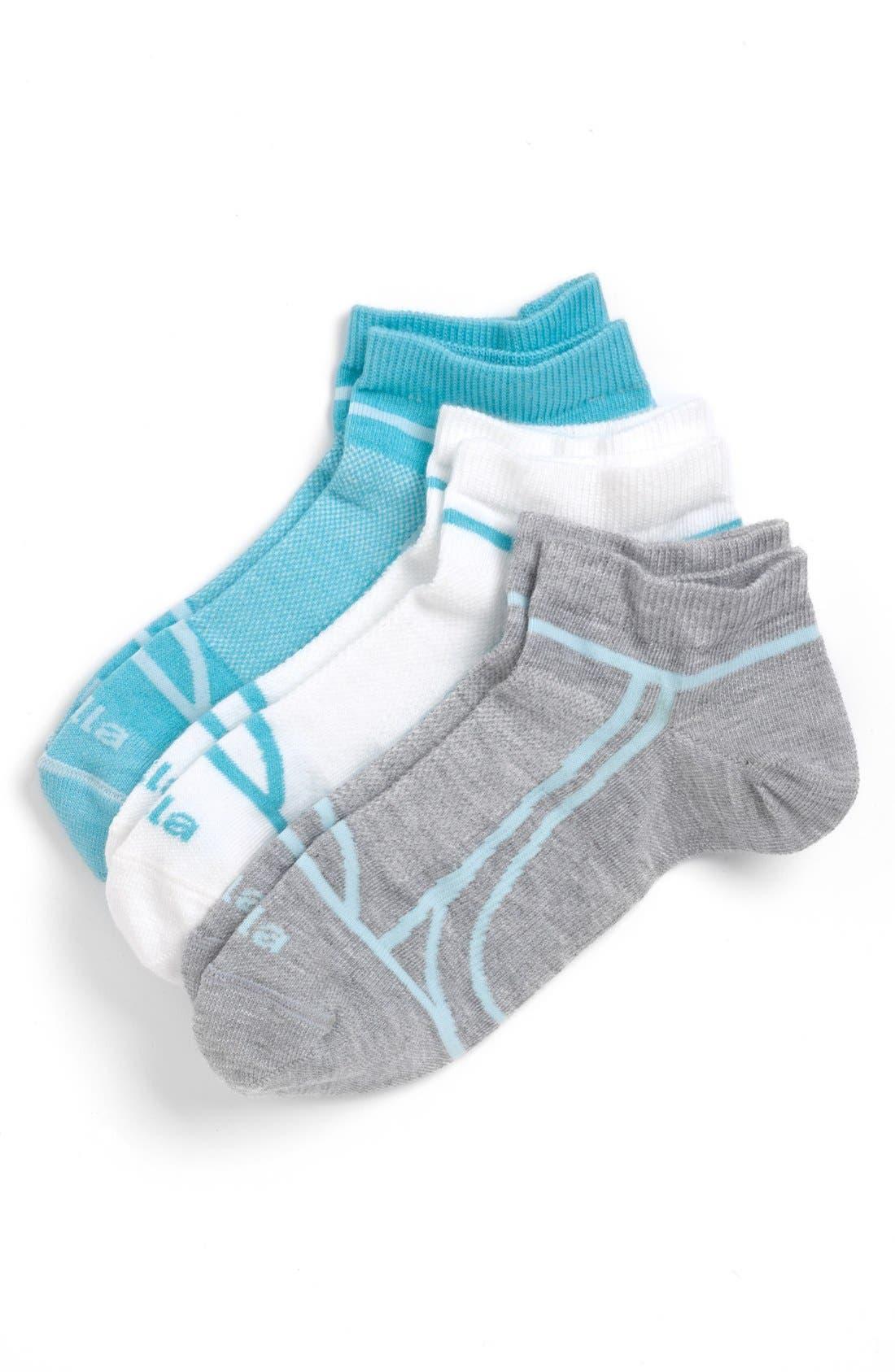 Main Image - Zella 'Fitness' Liner Socks (3-Pack)