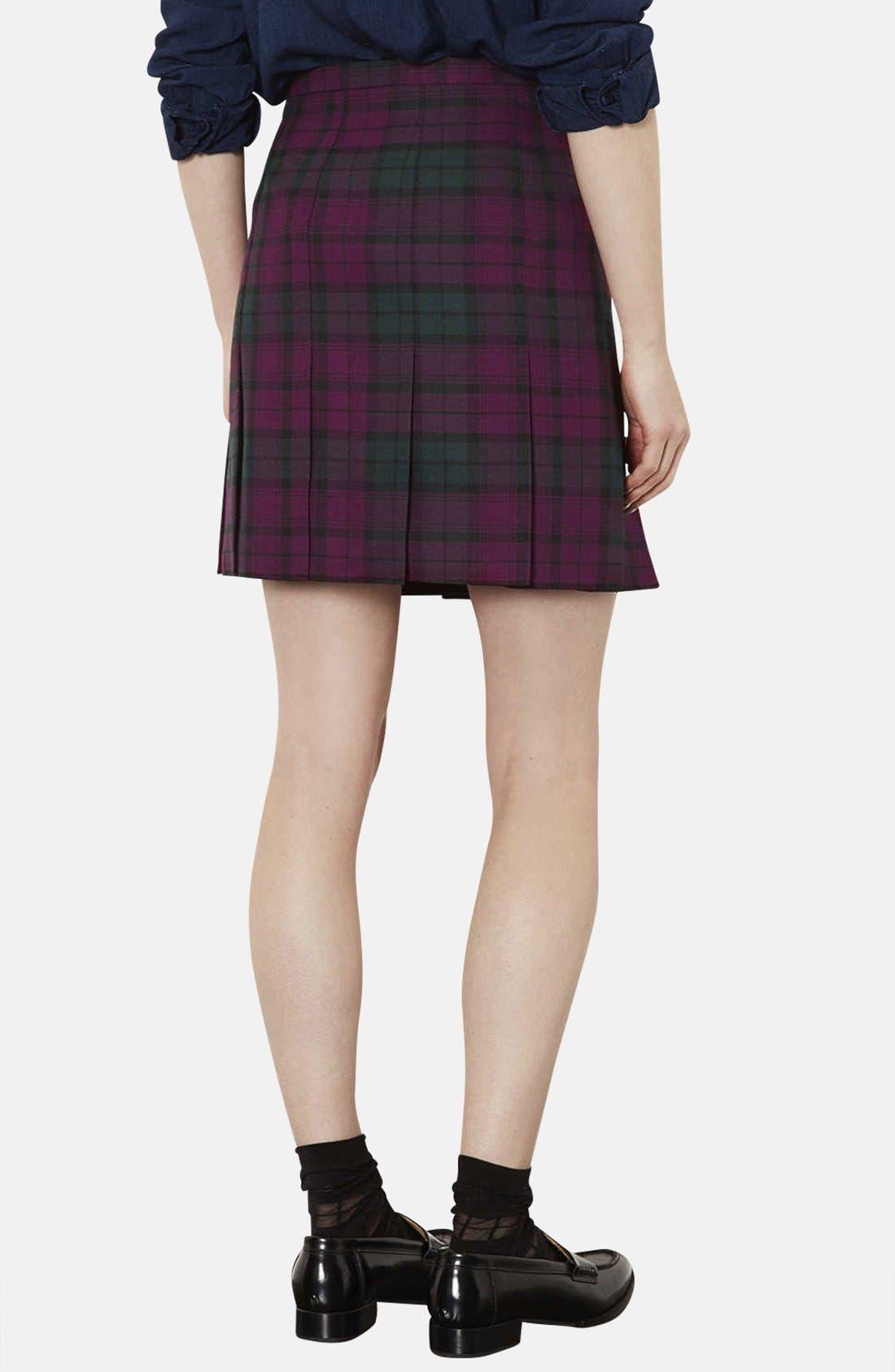 Alternate Image 2  - Topshop Plaid Kilt Skirt