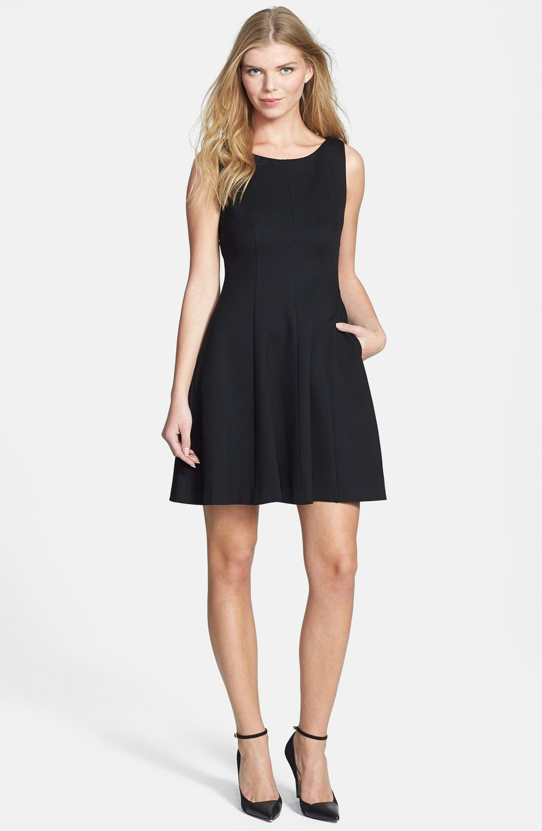 Main Image - Rachel Roy Cutout Back Fit & Flare Dress