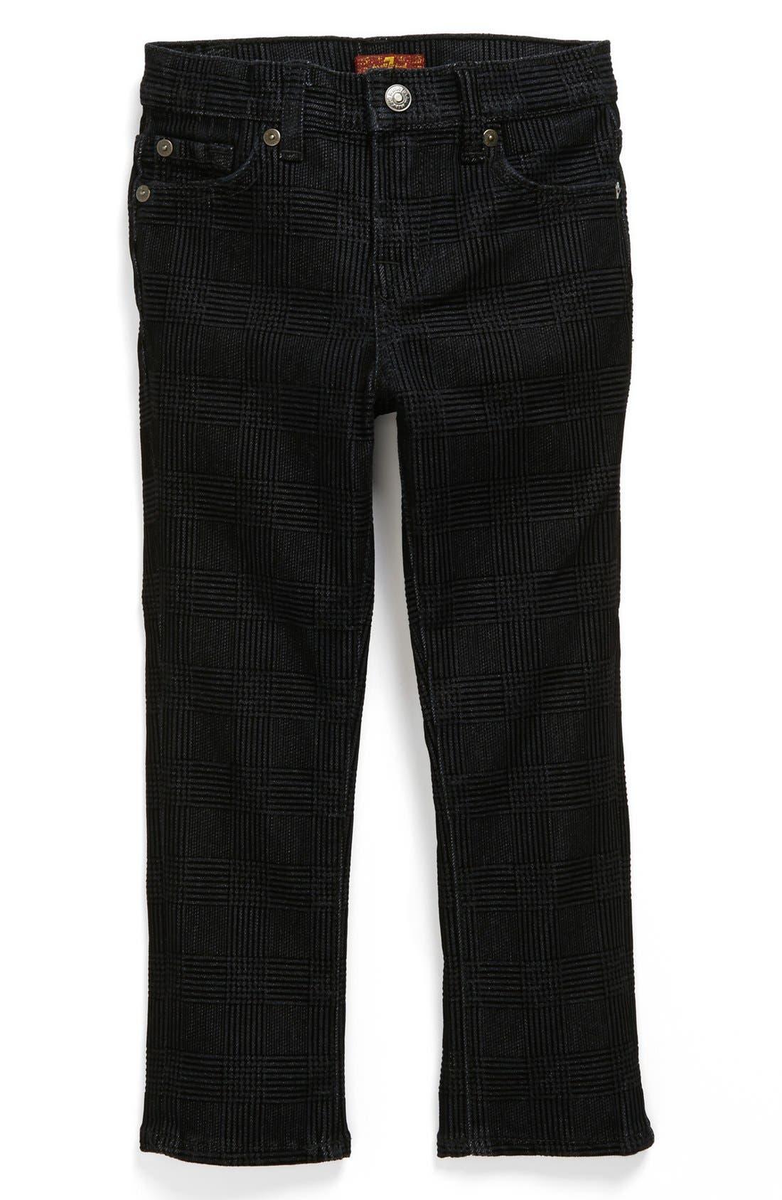 Alternate Image 2  - 7 For All Mankind® 'Slimmy' Flocked Slim Fit Jeans (Toddler Boys)