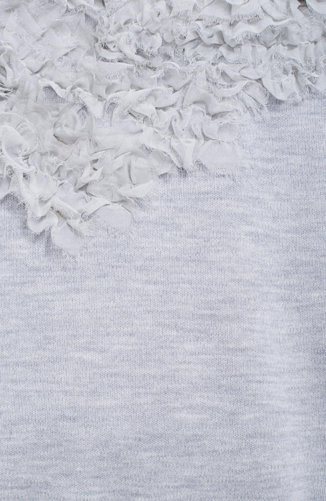 Alternate Image 3  - Jason Wu Chiffon Appliqué Sweatshirt