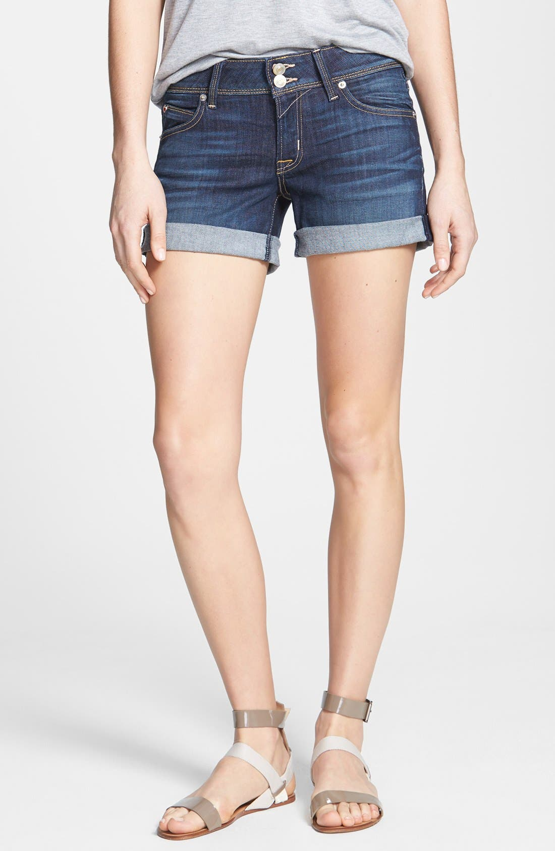 Alternate Image 1 Selected - Hudson Jeans 'Croxley' Cuff Denim Shorts (Stella)
