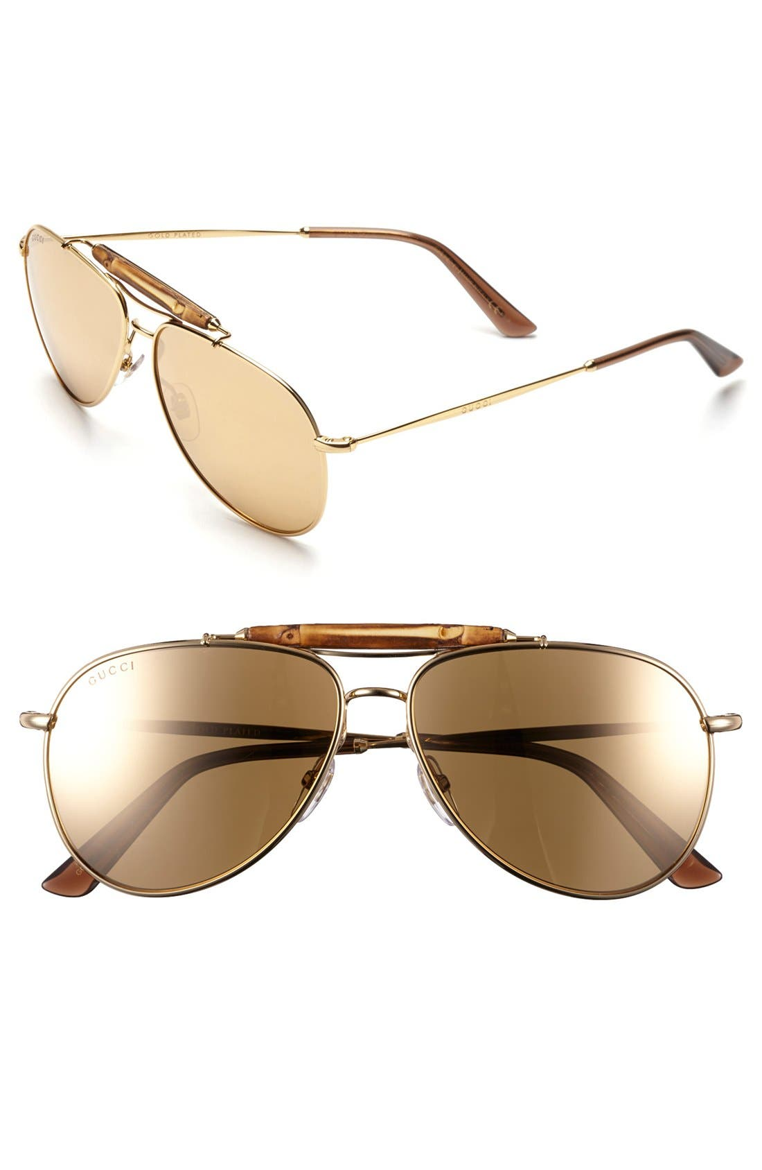 Alternate Image 1 Selected - Gucci 58mm Aviator Sunglasses
