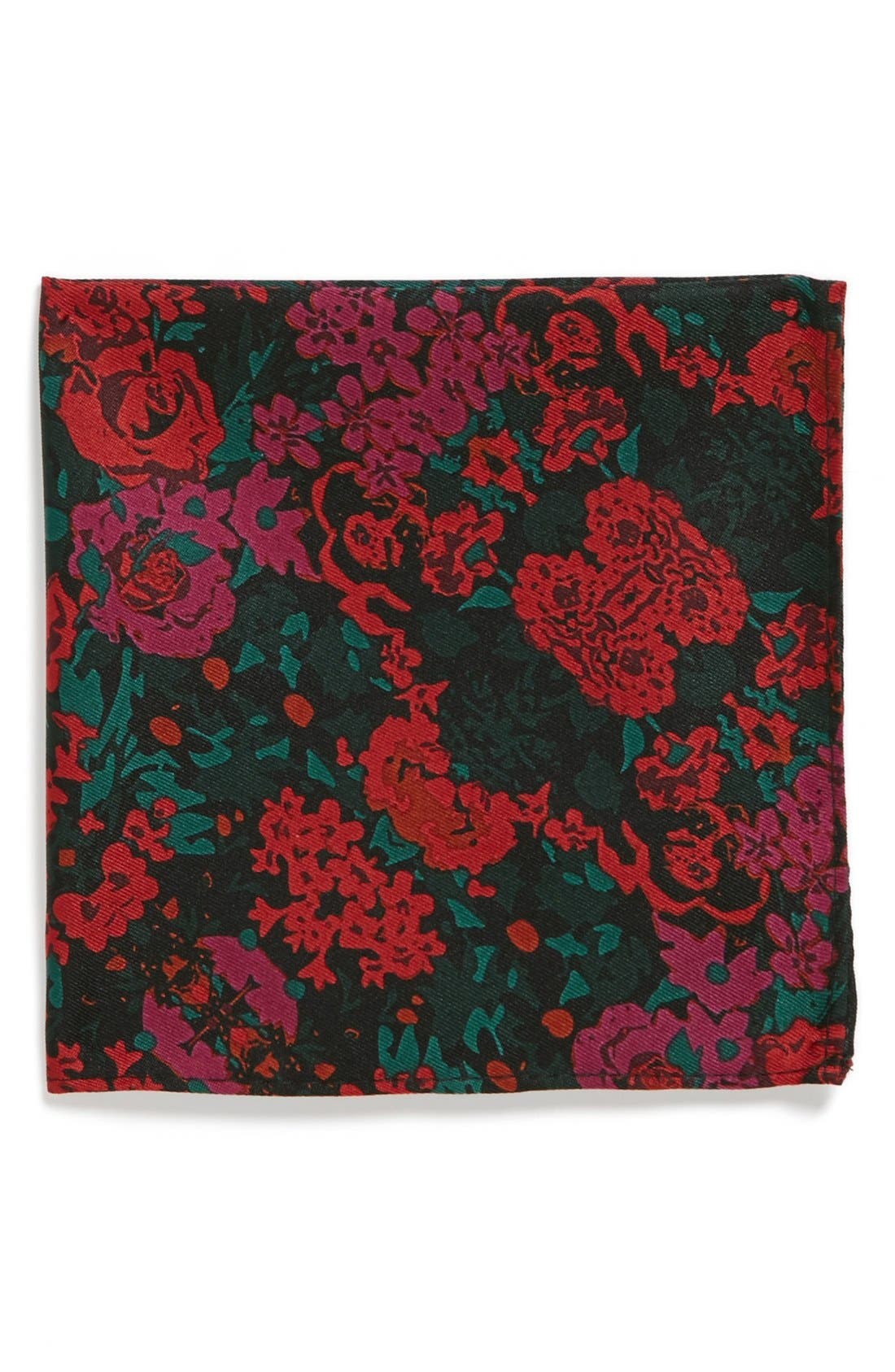 Alternate Image 1 Selected - Topman Floral Print Pocket Square