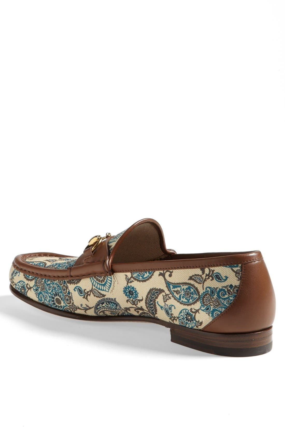 Alternate Image 2  - Gucci 'Roos' Paisley Bit Loafer