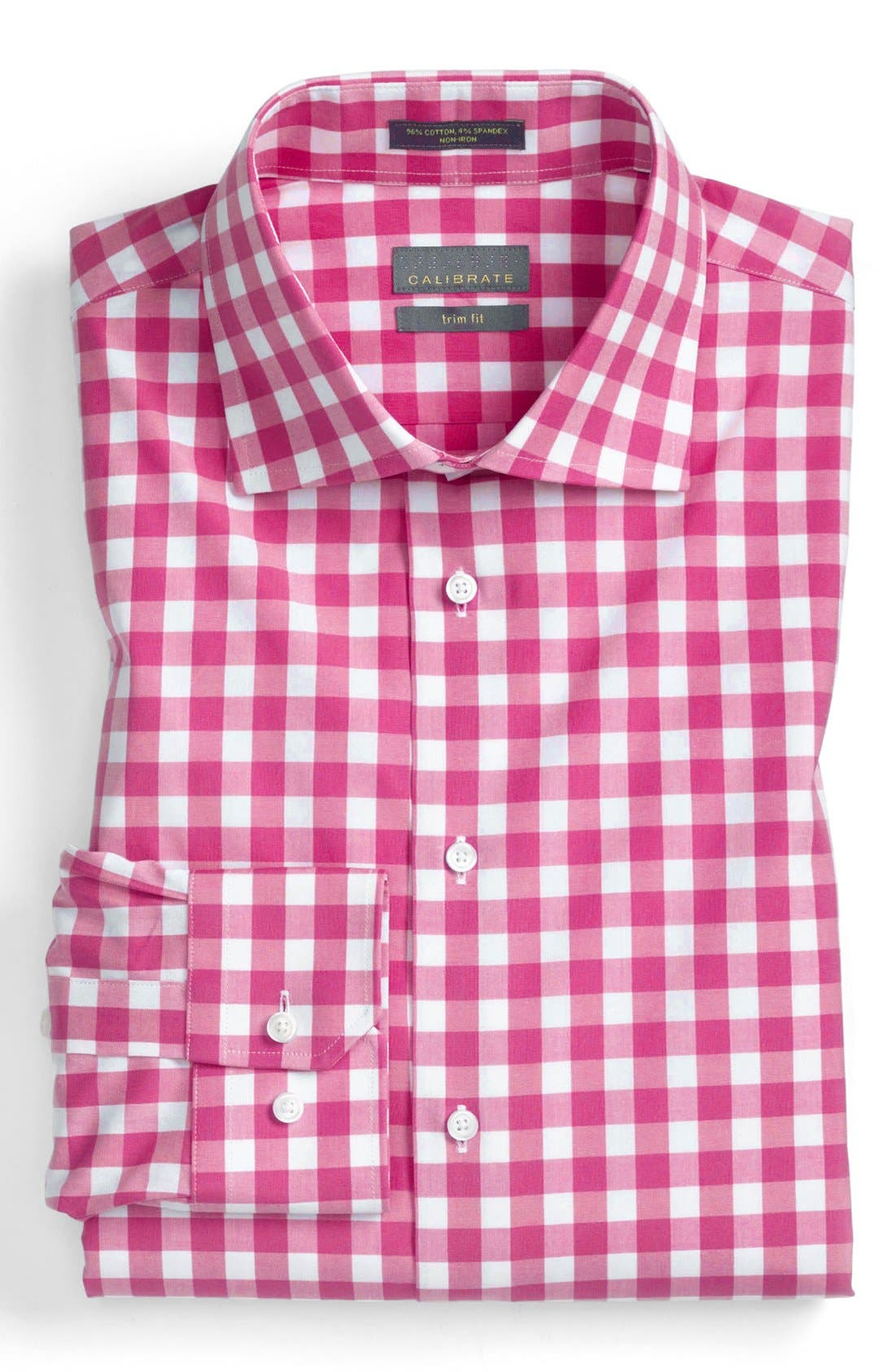 Alternate Image 1 Selected - Calibrate Trim Fit Non-Iron Gingham Dress Shirt