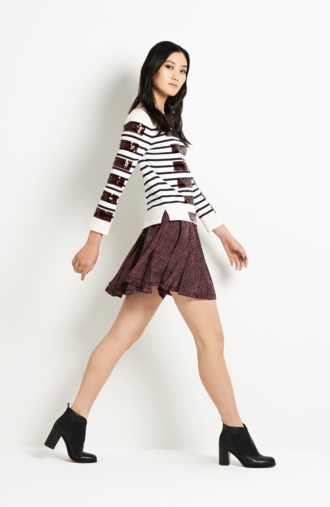 Alternate Image 5  - MARC JACOBS Pleated Silk Crepe Miniskirt