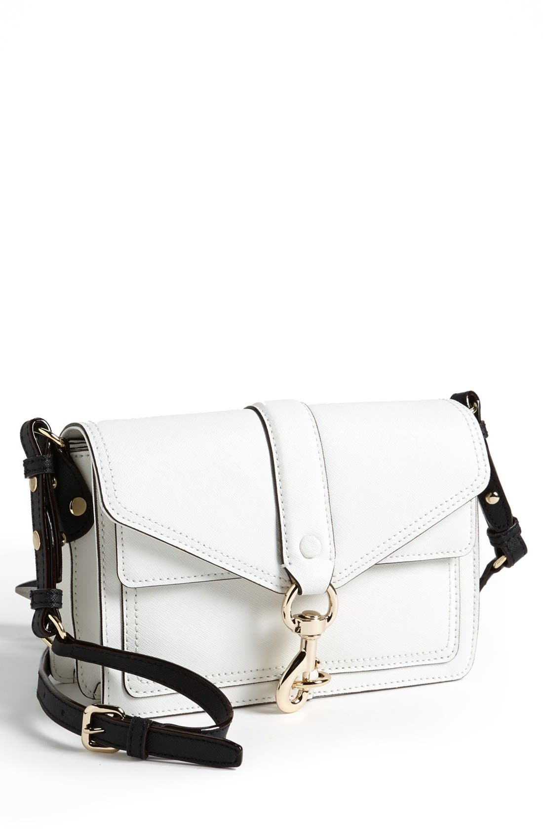 Alternate Image 1 Selected - Rebecca Minkoff 'Hudson Mini Moto' Crossbody Bag