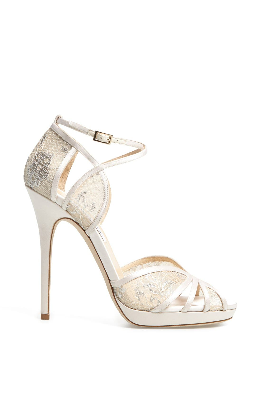 Alternate Image 4  - Jimmy Choo 'Fayme' Lace Platform Sandal