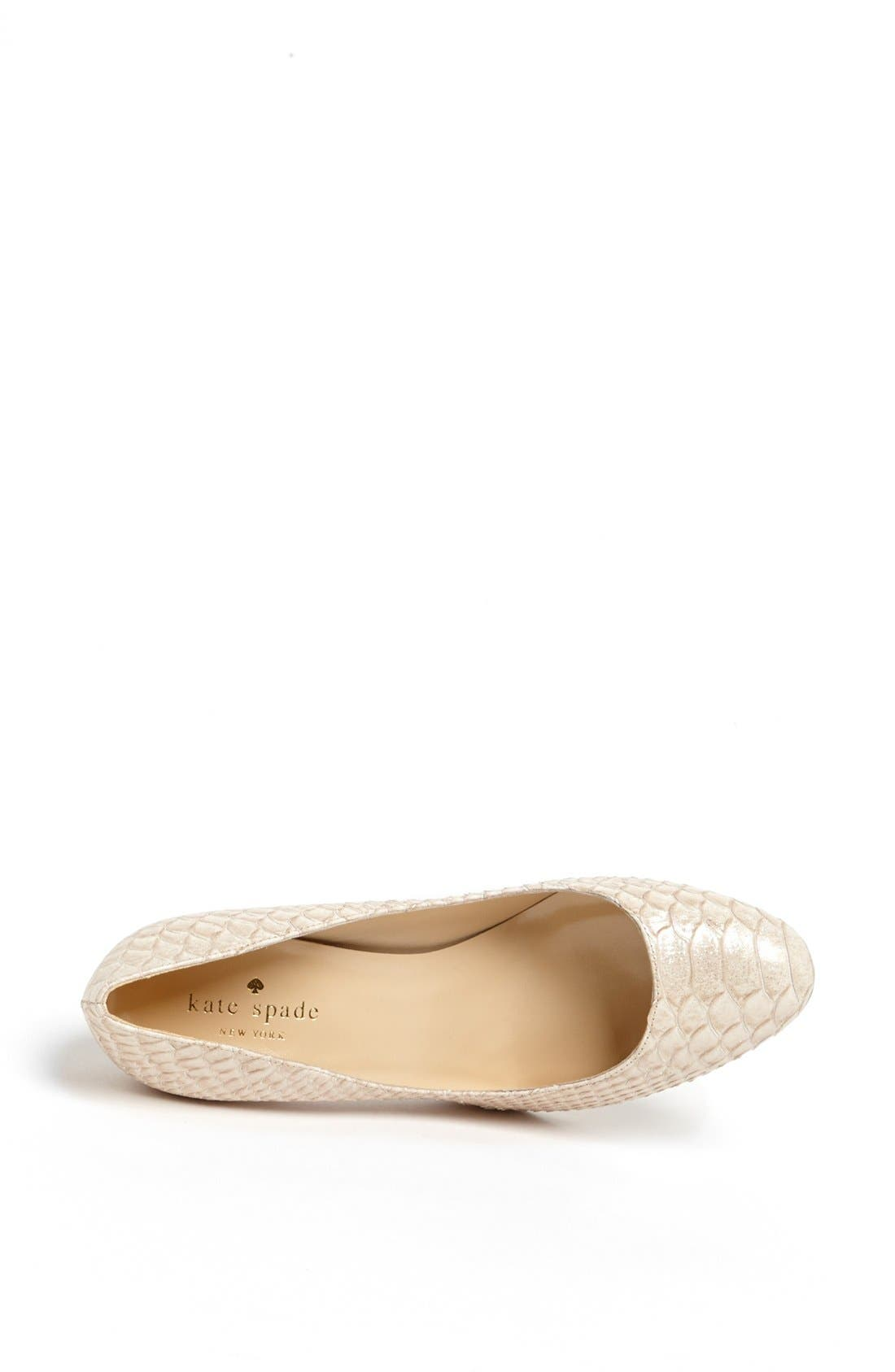 Alternate Image 3  - kate spade new york 'arielle' round toe pump