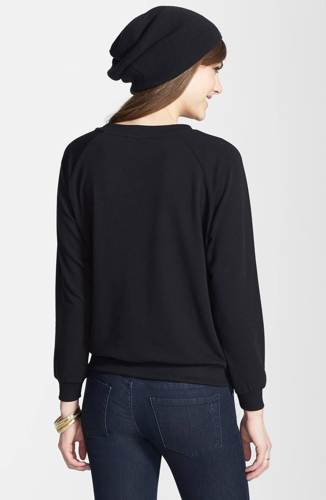 Alternate Image 2  - Elodie Embroidered Organza Sweatshirt (Juniors)