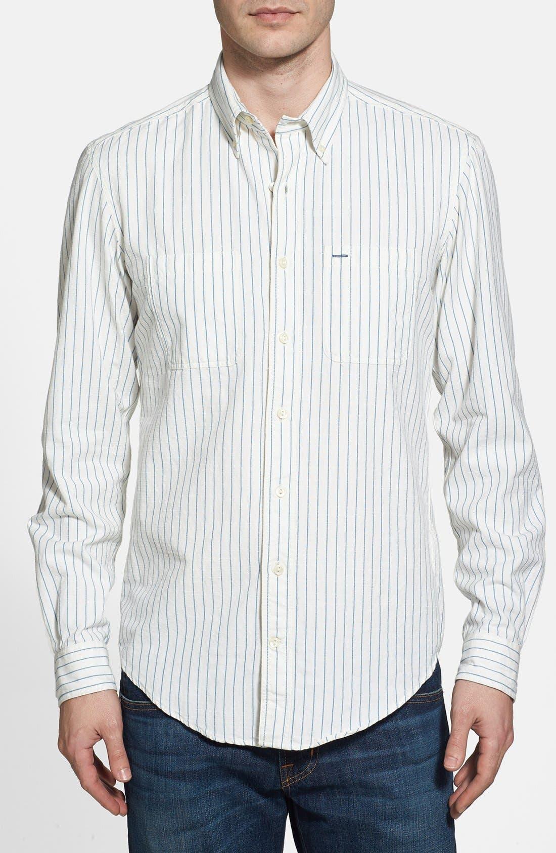 Alternate Image 1 Selected - Gant 'O.P. Indigo Stripe' Sport Shirt