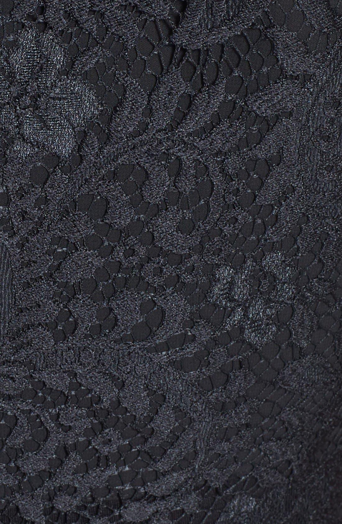 Alternate Image 3  - Ted Baker London 'Sarvani' Lace & Ponte Body-Con Dress