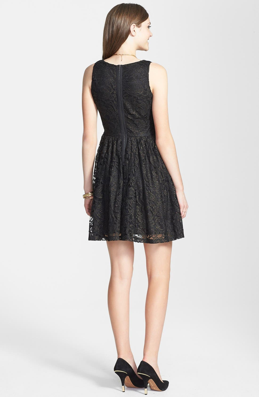 Alternate Image 2  - Soprano Lace Skater Dress (Juniors)