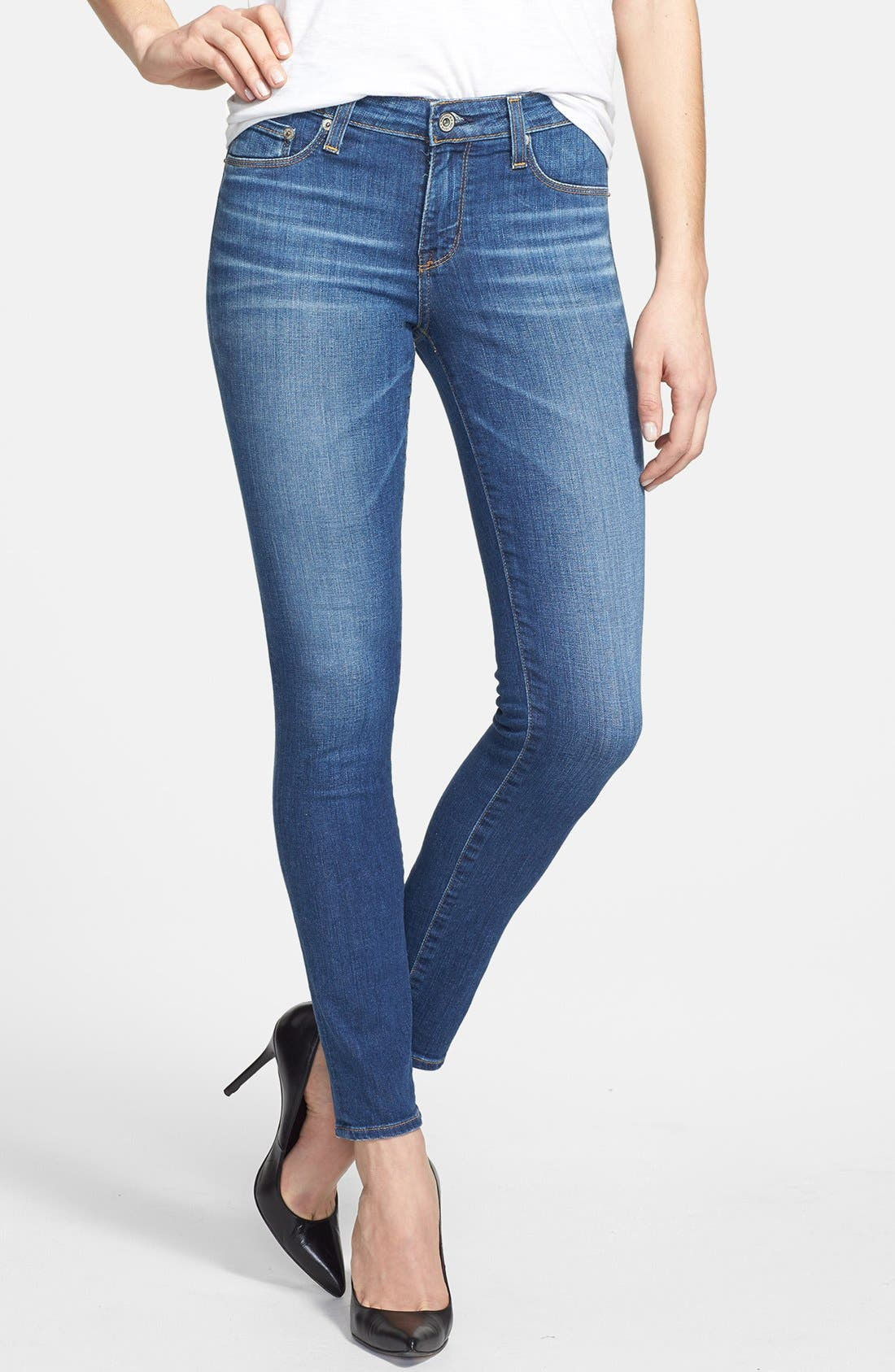 Main Image - Big Star 'Alex' Stretch Skinny Jeans (Oxford) (Petite)