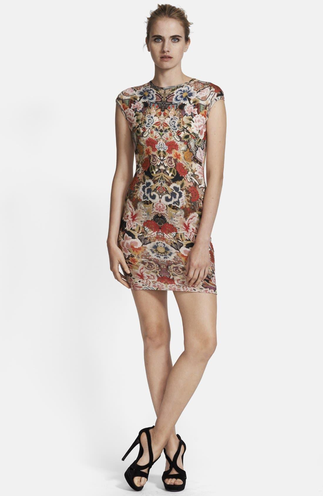 Alternate Image 1 Selected - Alexander McQueen Patchwork Floral Print Dress