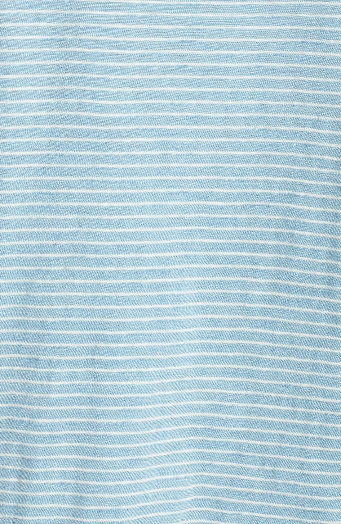 Alternate Image 3  - Splendid Stripe Snap Button Cotton Henley