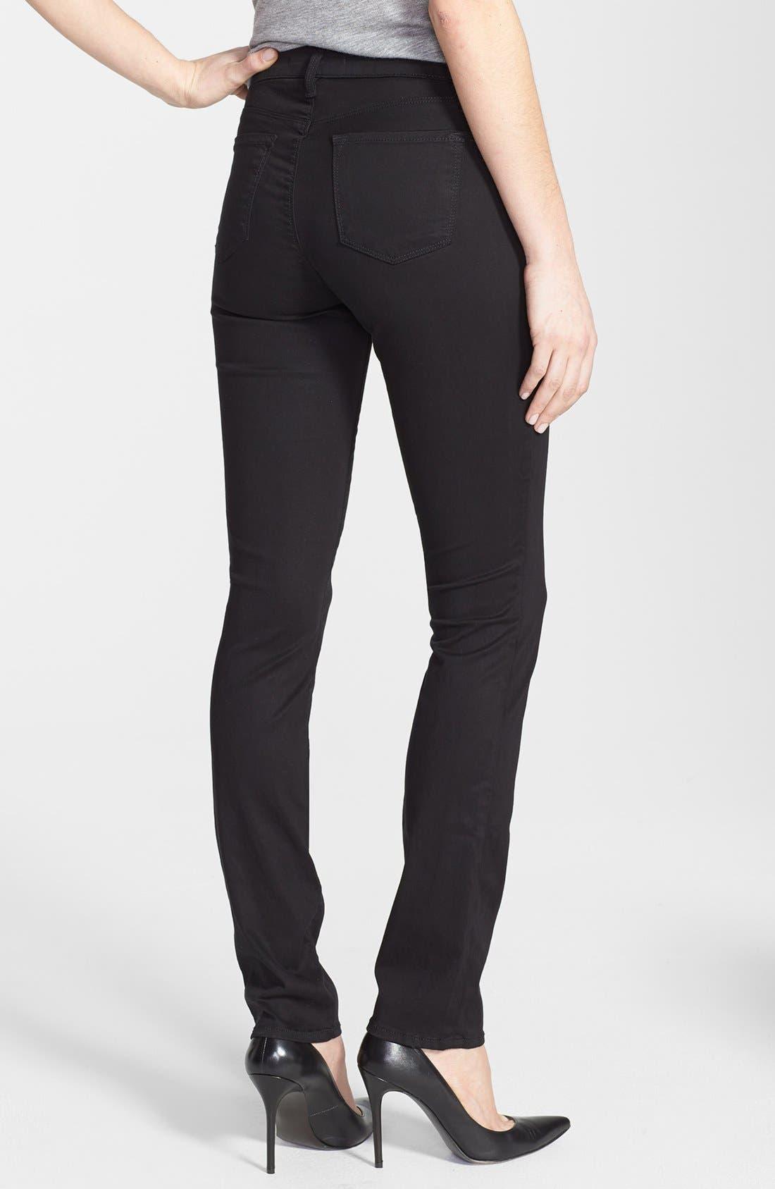 Alternate Image 2  - J Brand 'Rails' Straight Leg Jeans (Black Luxe Sateen)