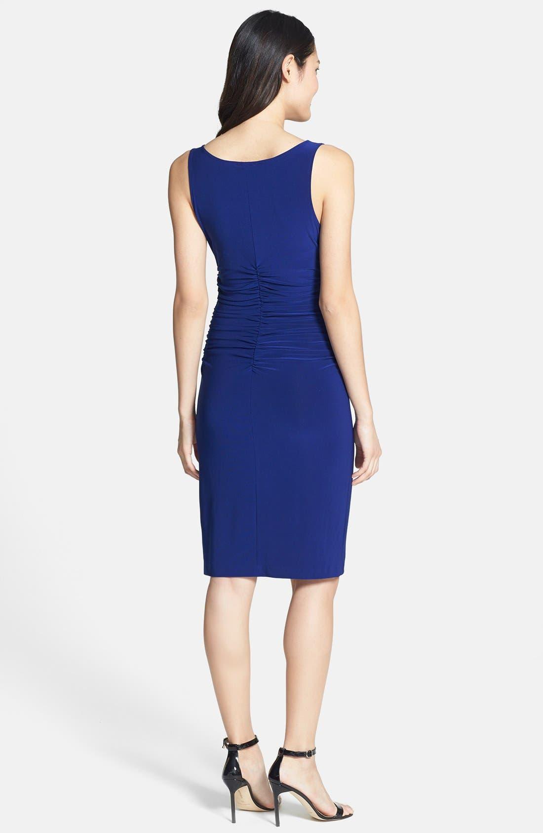 Alternate Image 2  - KAMALIKULTURE Ruched Jersey Sheath Dress