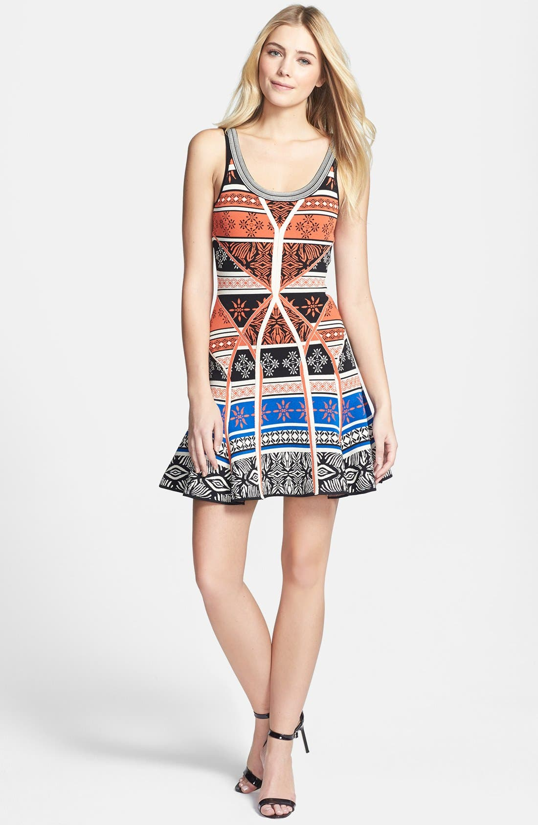 Alternate Image 1 Selected - Diane von Furstenberg 'Ilsa' Print Knit Tank Dress