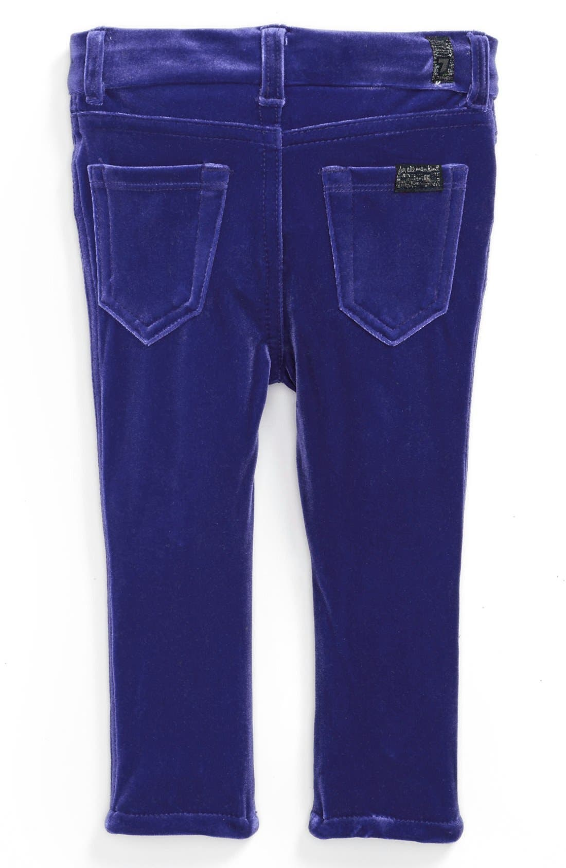 Alternate Image 1 Selected - 7 For All Mankind® 'The Skinny' Stretch Velveteen Jeans (Baby Girls)