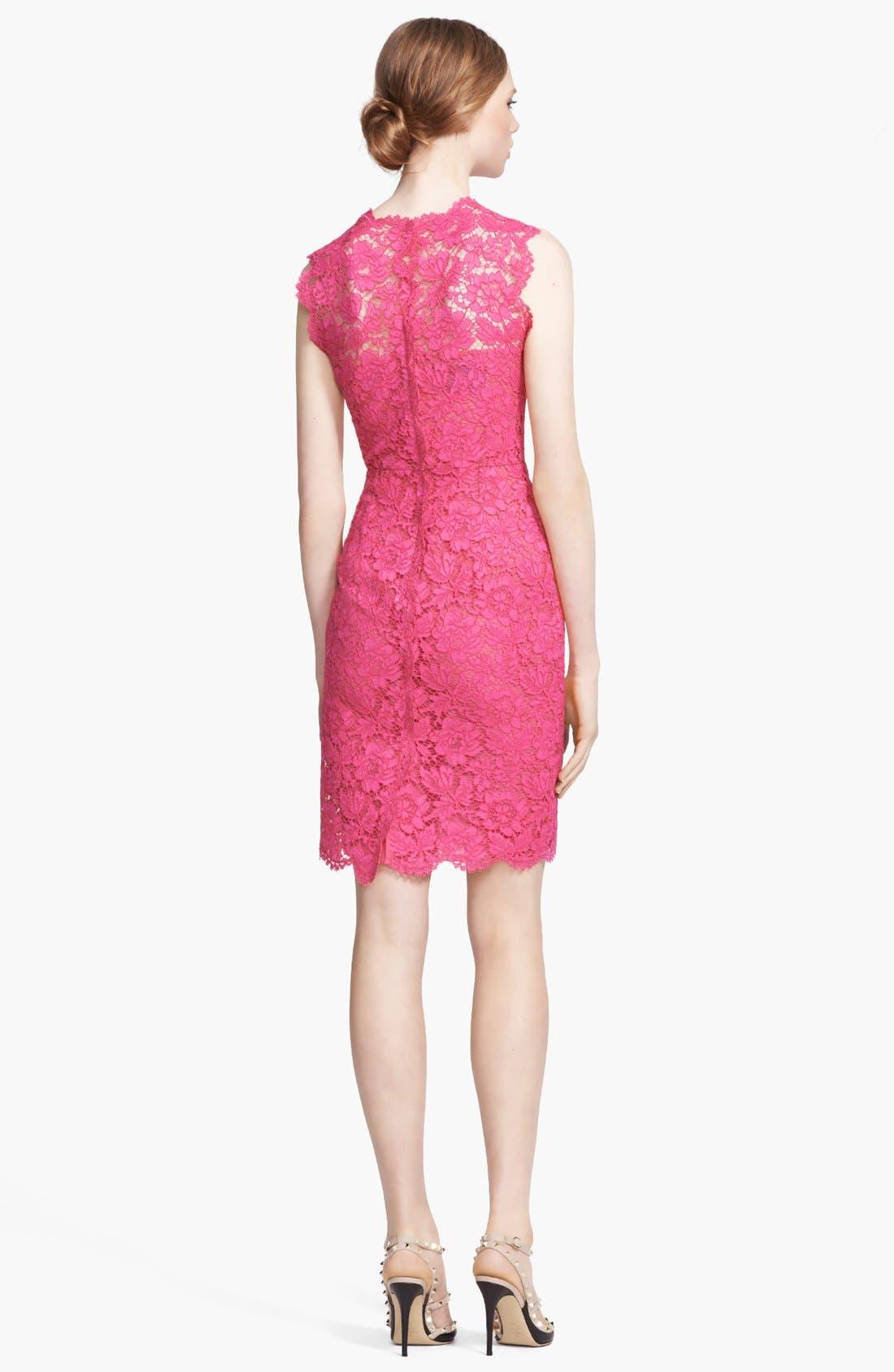 Alternate Image 2  - Valentino Lace Sheath Dress