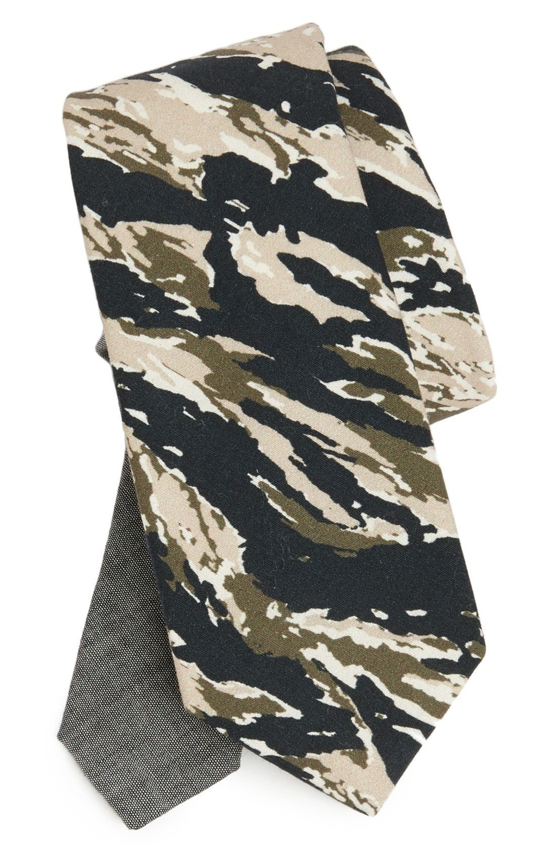 Alternate Image 1 Selected - EDIT by The Tie Bar Camo Cotton Tie (Nordstrom Exclusive)