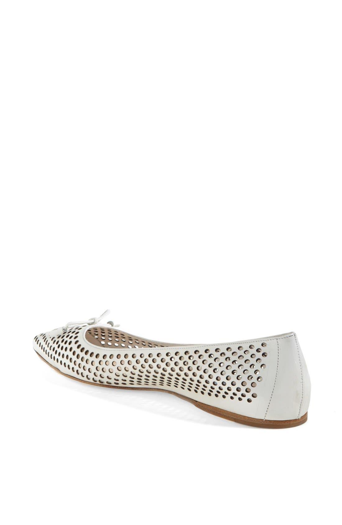 Alternate Image 2  - Prada Pointed Toe Perforated Ballet Flat