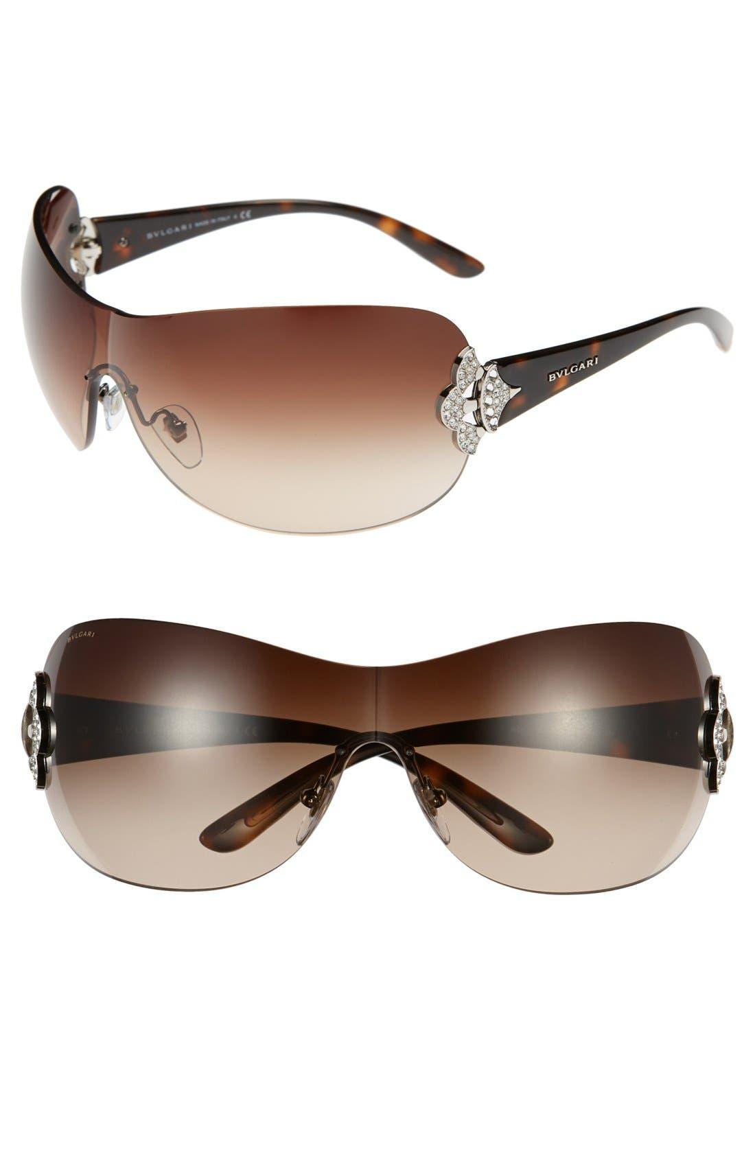 Main Image - BVLGARI 60mm Shield Sunglasses