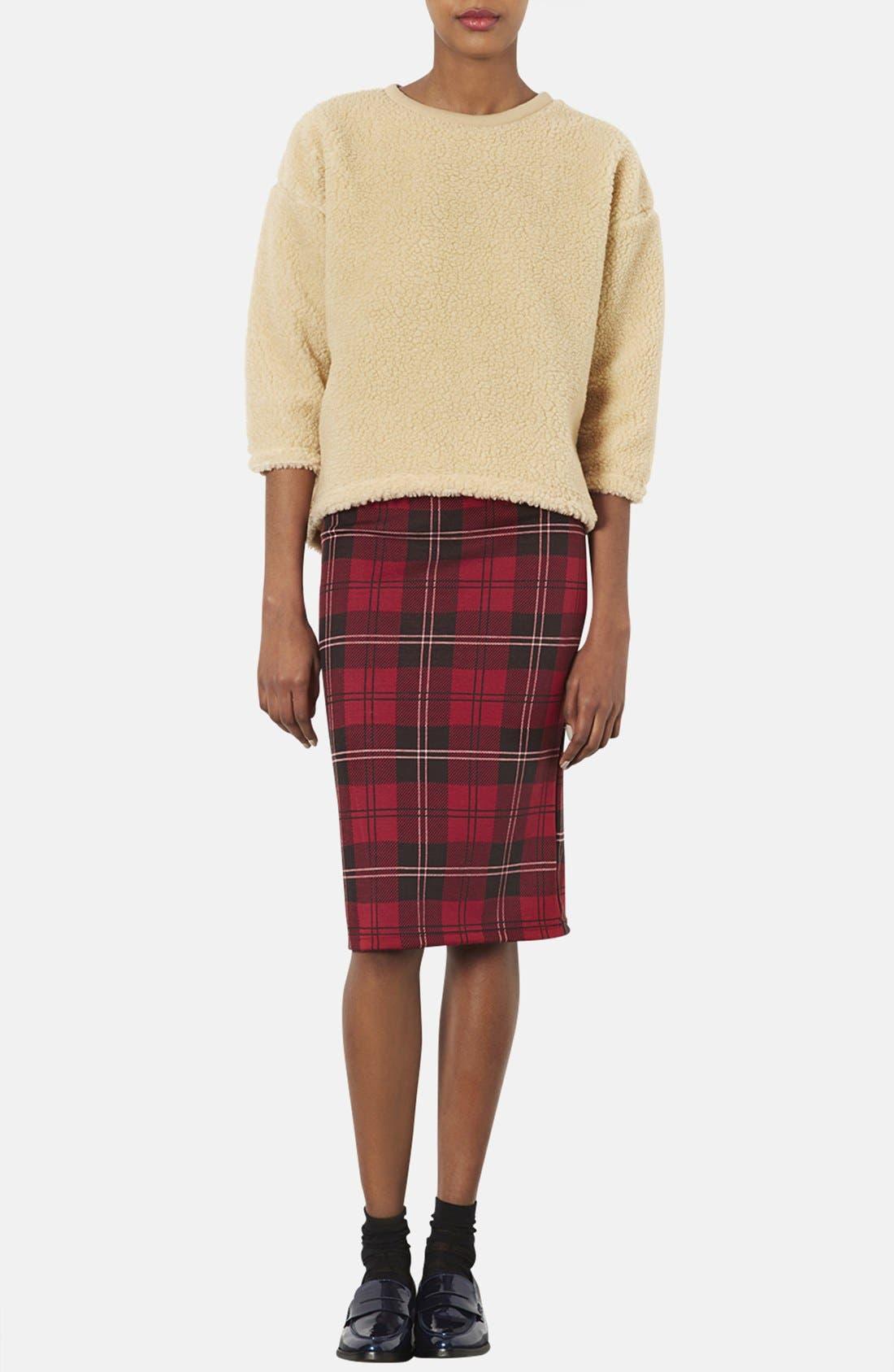 Alternate Image 4  - Topshop Plaid Tube Skirt