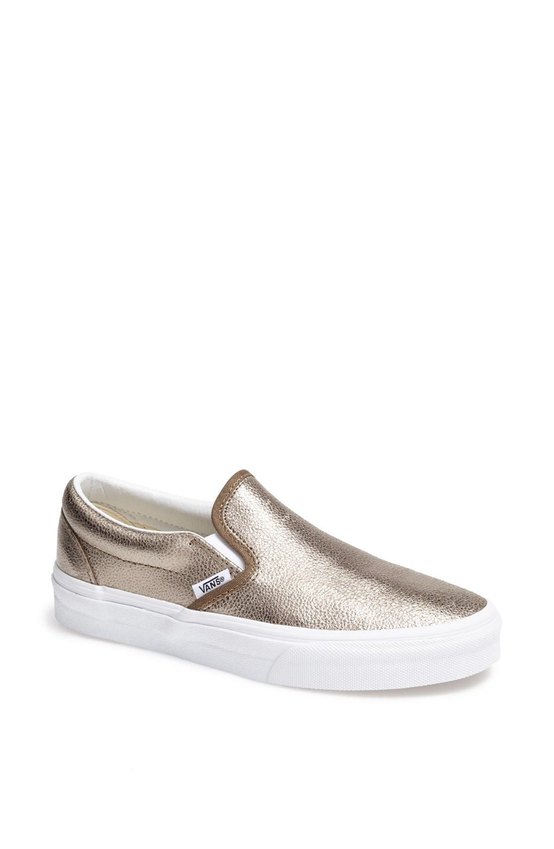Alternate Image 1 Selected - Vans Metallic Slip-On Sneaker (Women)