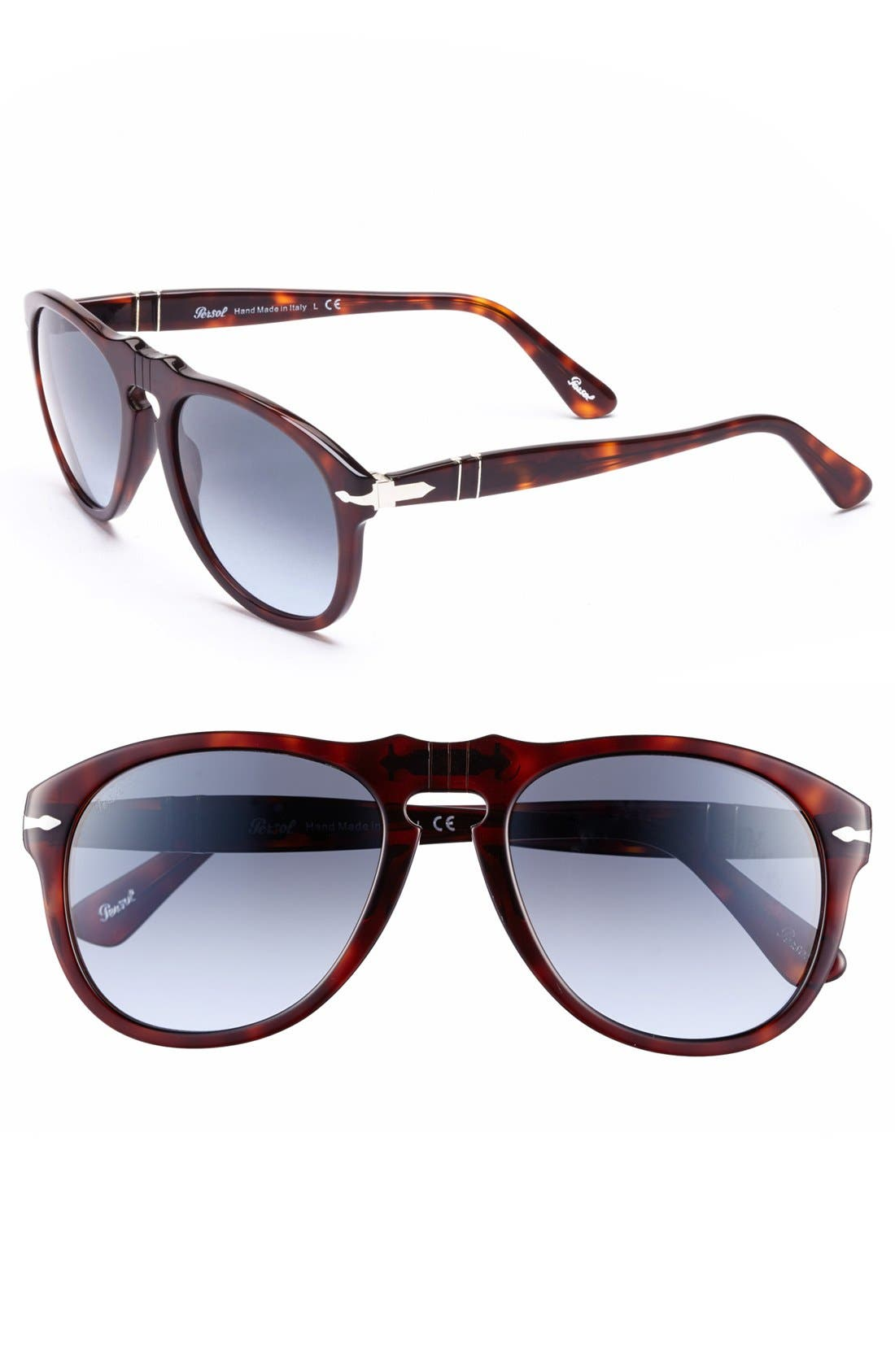 Alternate Image 1 Selected - Persol '649' Retro 52mm Keyhole Sunglasses