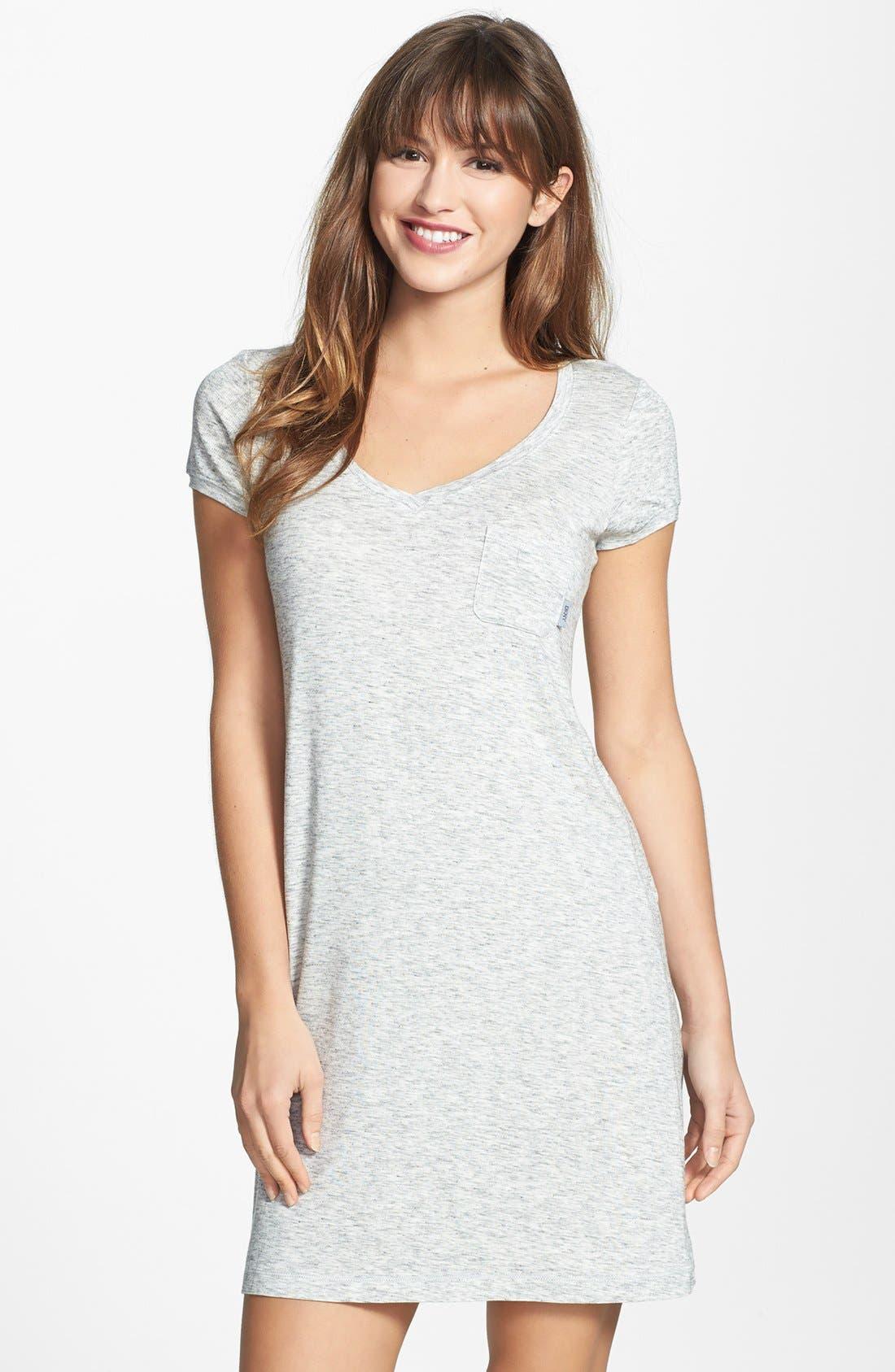 DKNY 'City Essentials' V-Neck Sleep Shirt