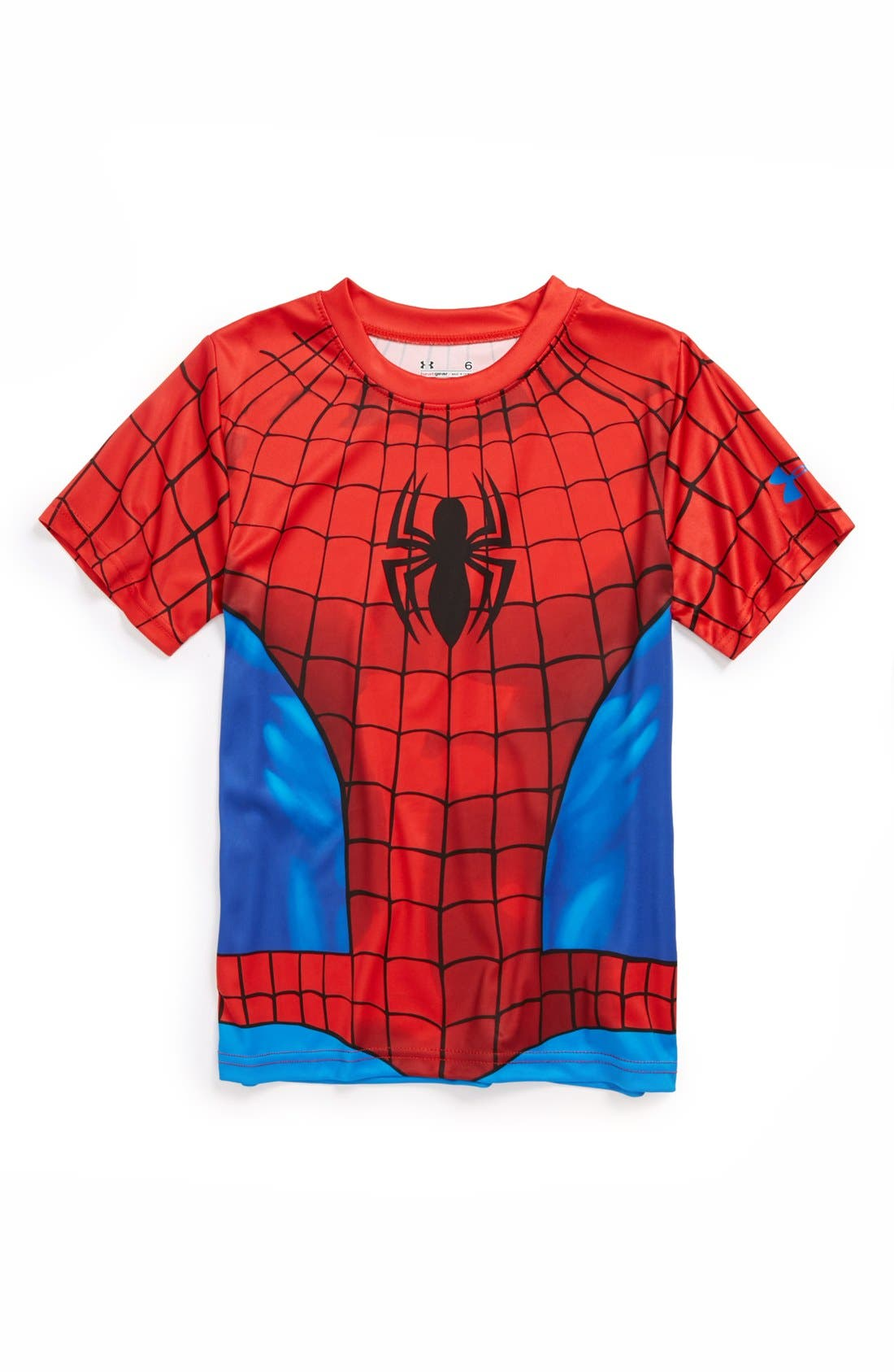Alternate Image 1 Selected - Under Armour 'Spider-Man - All Over' HeatGear® T-Shirt (Little Boys)