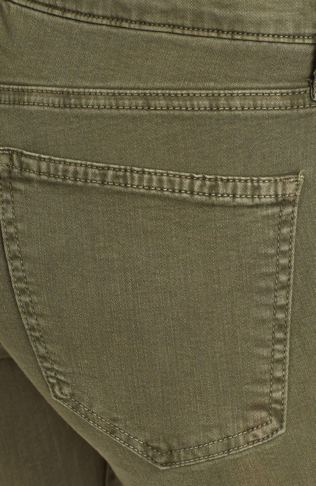 Alternate Image 3  - Current/Elliott 'The Soho Zip Stiletto' Skinny Jeans (Army)