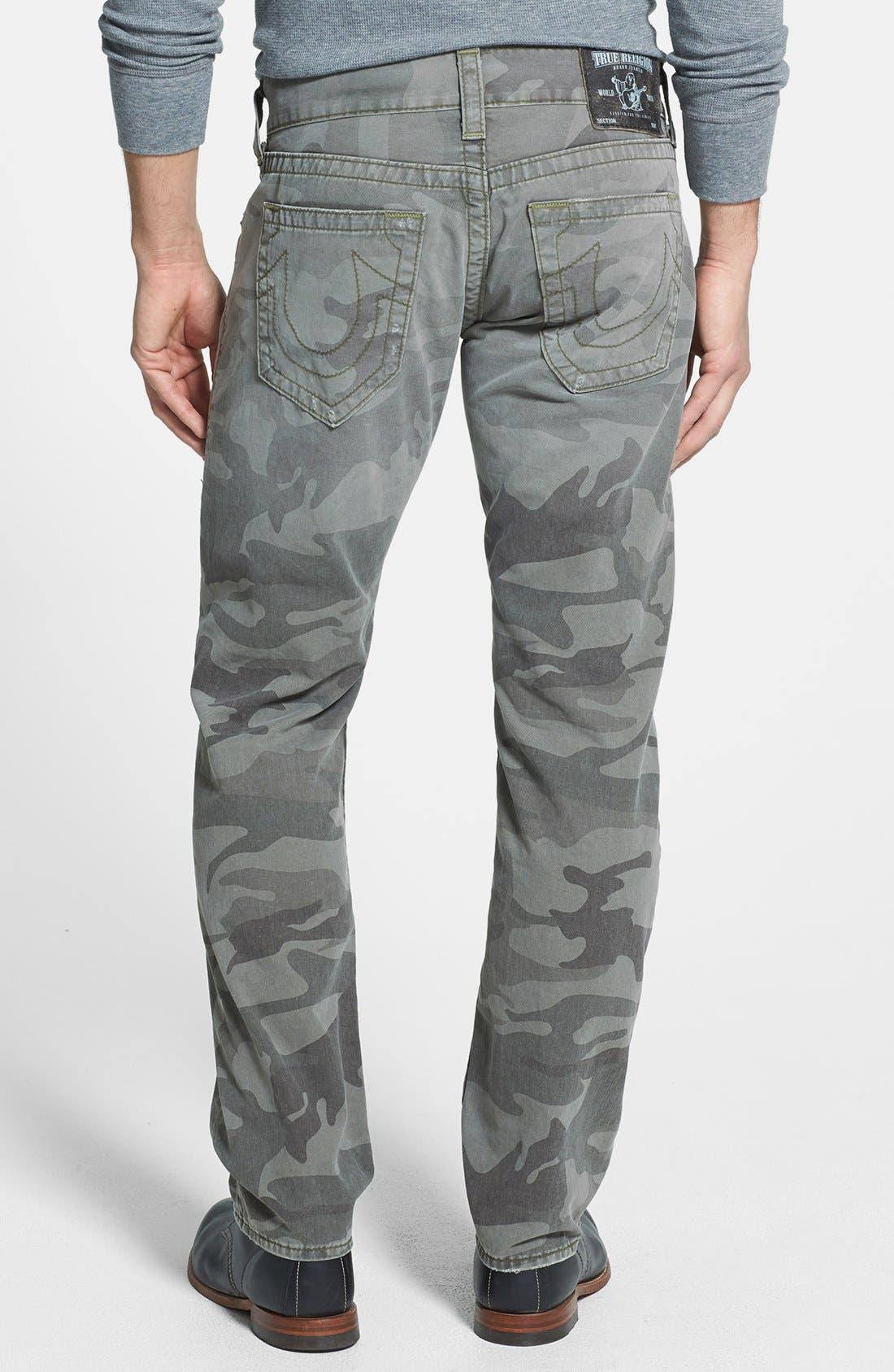 Alternate Image 1 Selected - True Religion Brand Jeans 'Geno' Straight Leg Camo Jeans (Abn Deringer)