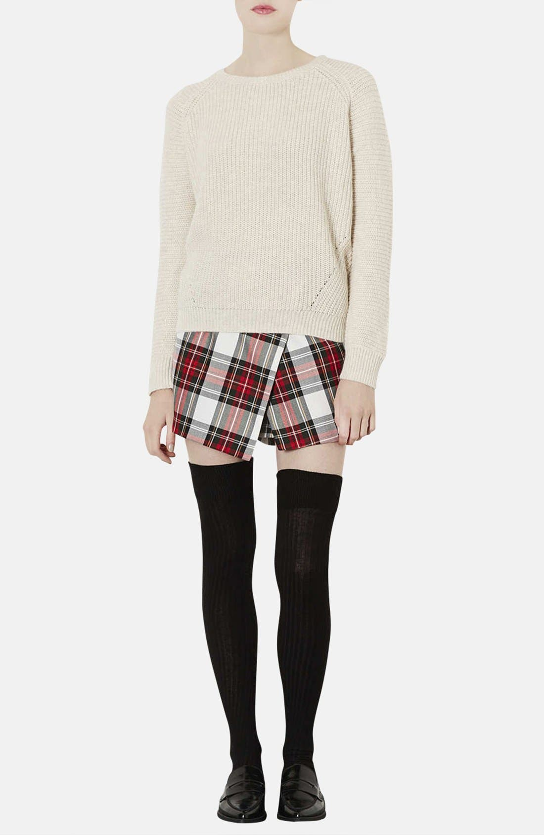 Alternate Image 4  - Topshop Plaid Asymmetrical Skort