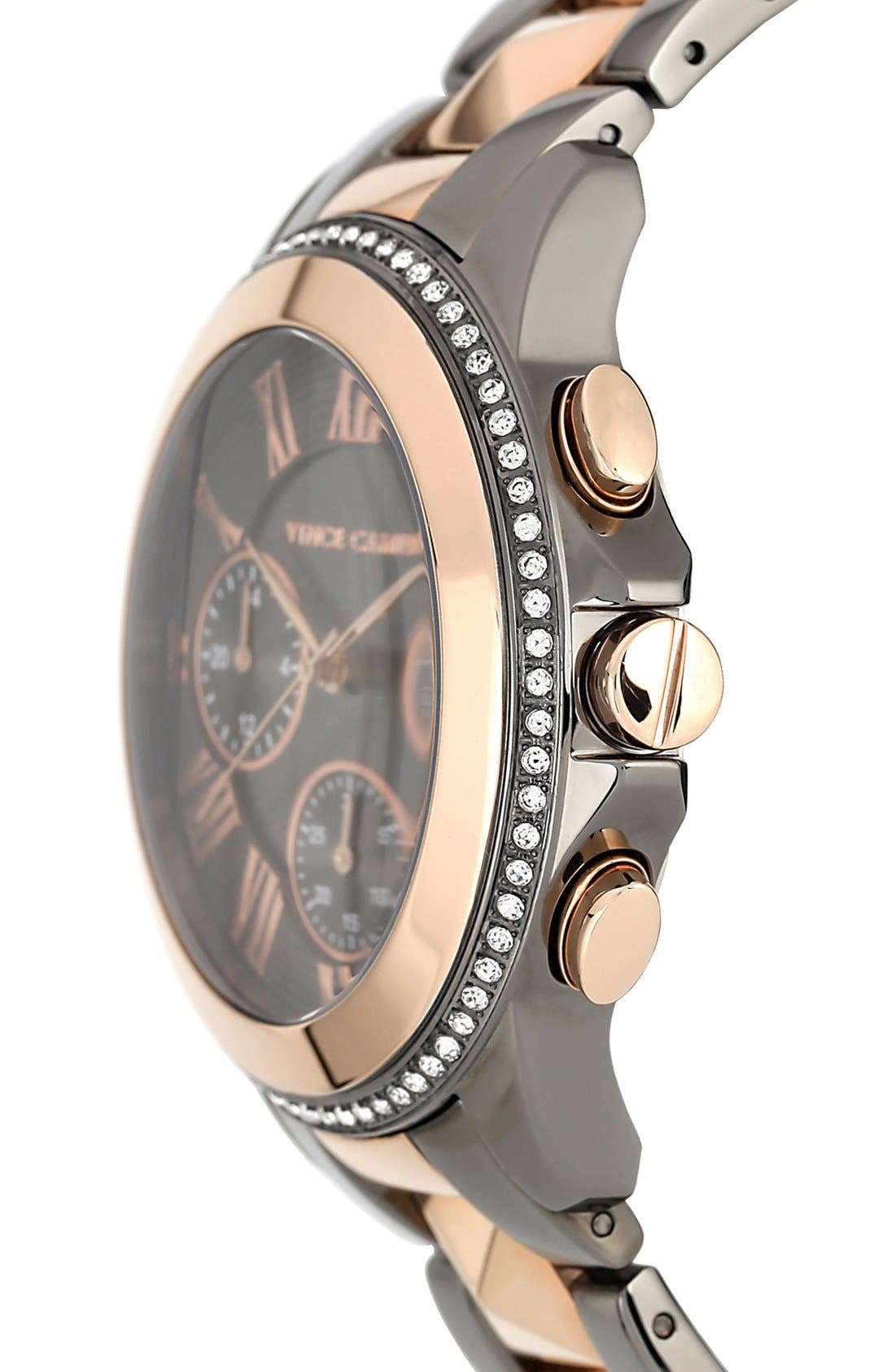 Alternate Image 3  - Vince Camuto Multifunction Pyramid Bracelet Watch, 42mm