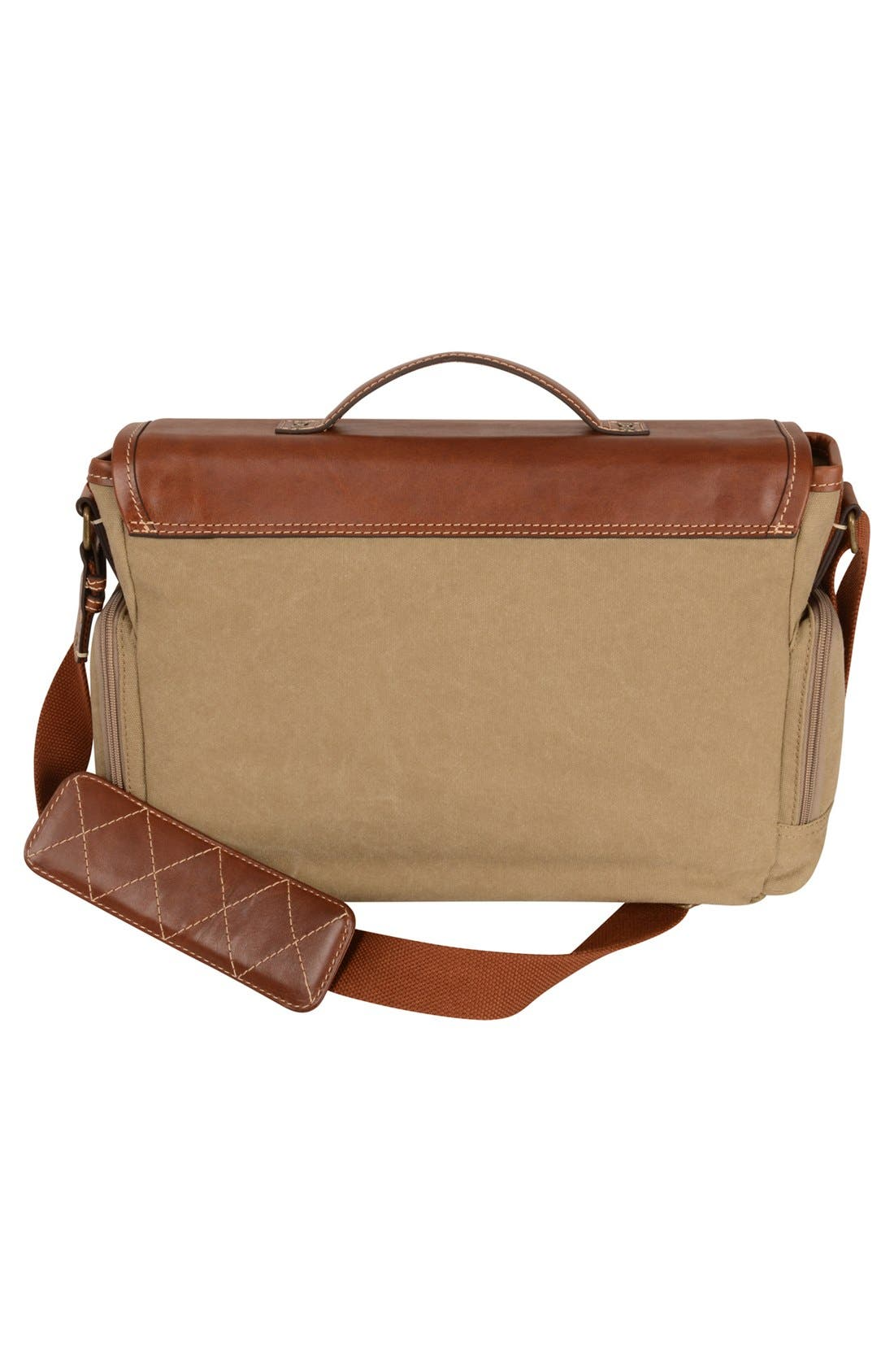 Alternate Image 2  - Tommy Bahama Canvas & Leather Messenger Bag