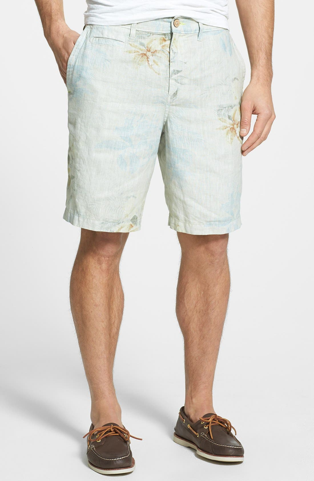 Alternate Image 1 Selected - Tommy Bahama 'First Class' Flat Front Shorts