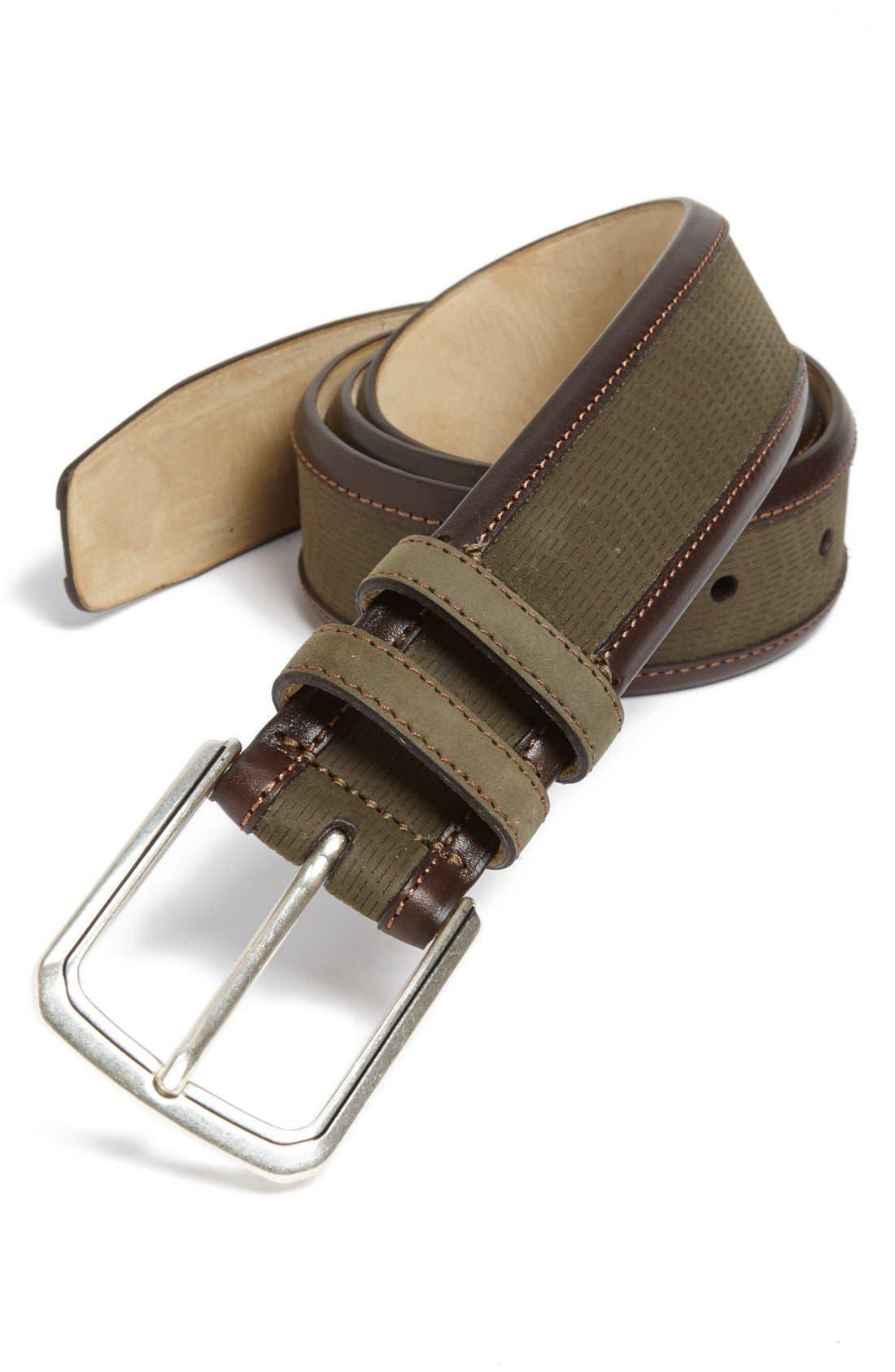 Alternate Image 1 Selected - Mezlan Nubuck Leather Belt