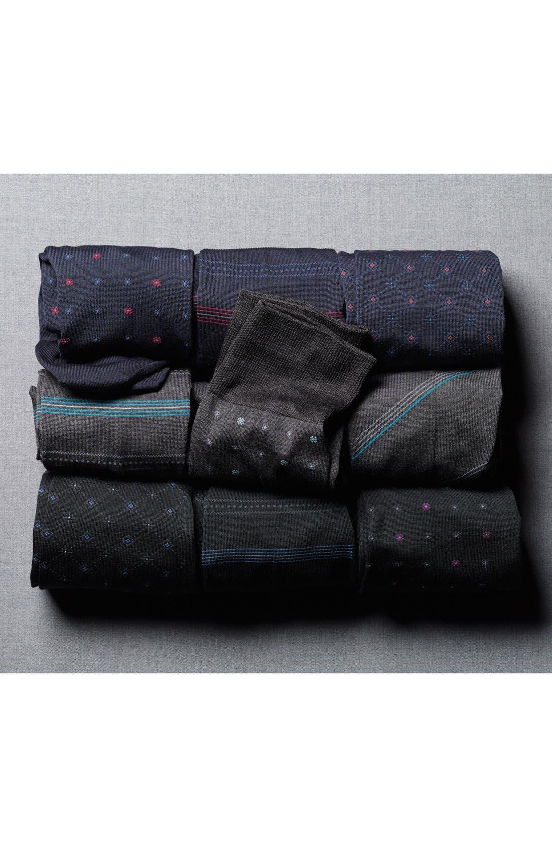 Alternate Image 3  - John W. Nordstrom® Stripe Socks (Men) (3 for $40)