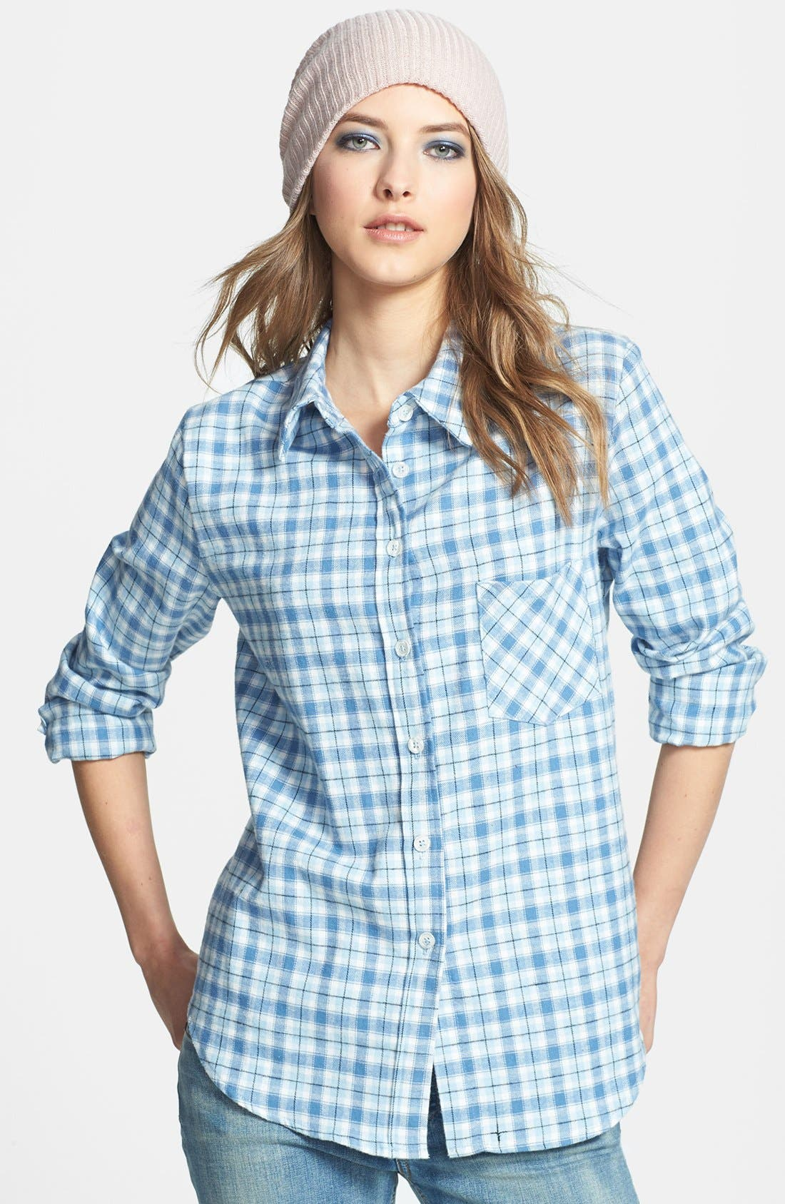 Main Image - WAYF Plaid Flannel Shirt