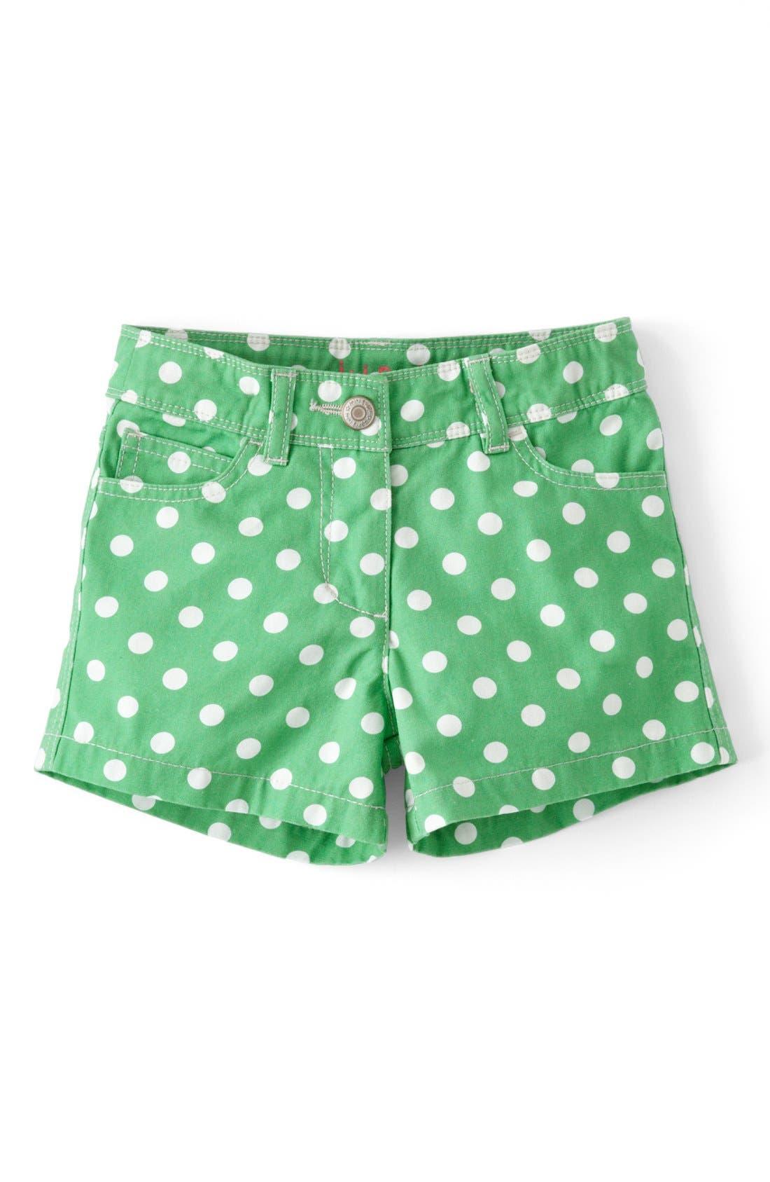 Alternate Image 1 Selected - Mini Boden Heart Pocket Shorts (Toddler Girls, Little Girls & Big Girls)(Online Only)