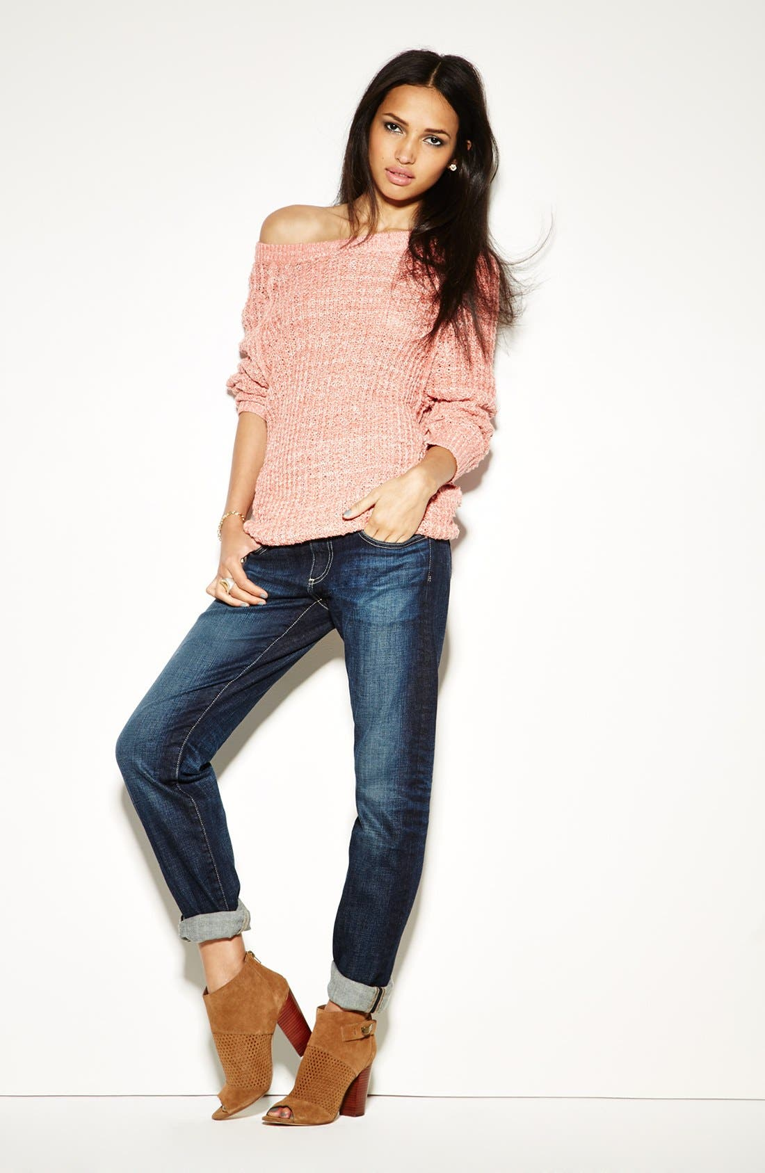 Alternate Image 6  - AG 'The Tomboy' Relaxed Straight Leg Jeans (Six Year Compass)
