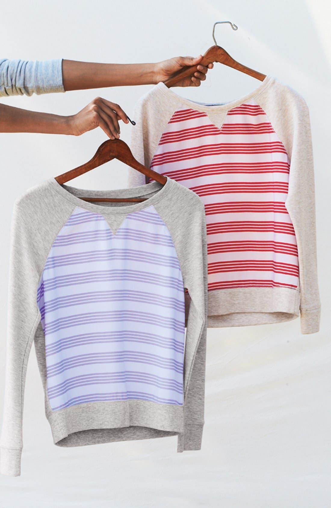Alternate Image 5  - Halogen® Stripe Front Sweatshirt